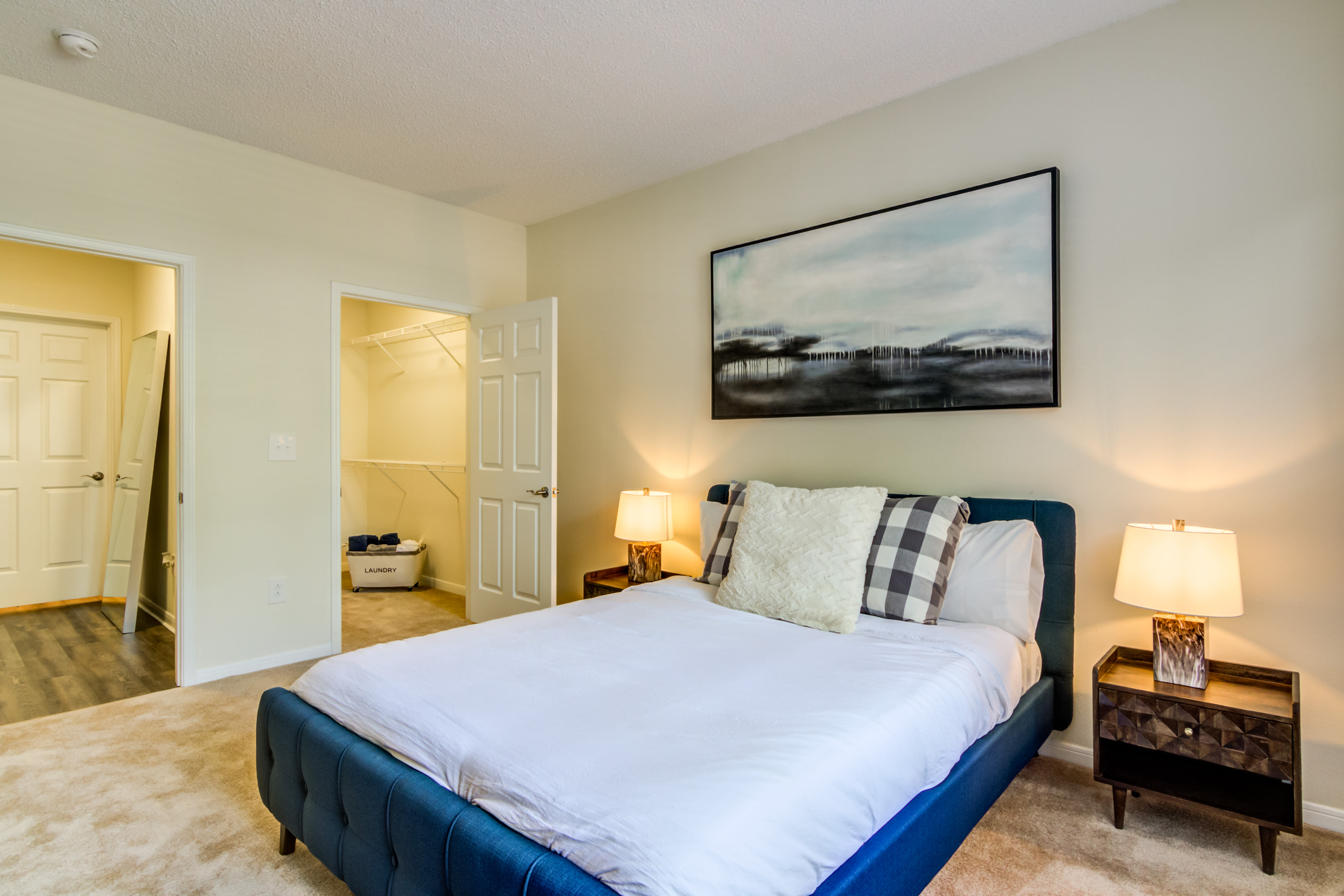 Large bedroom with a walk-in closet at Sofi Parc Grove in Stamford, Connecticut