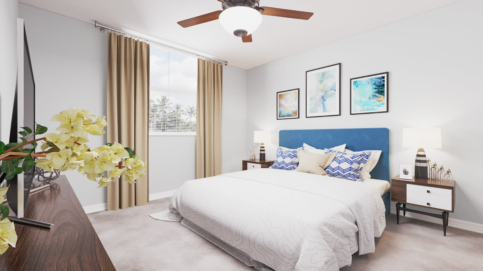View virtual tour for 2 bedroom 2 bathroom unit at Beach Walk at Sheridan in Dania Beach, Florida