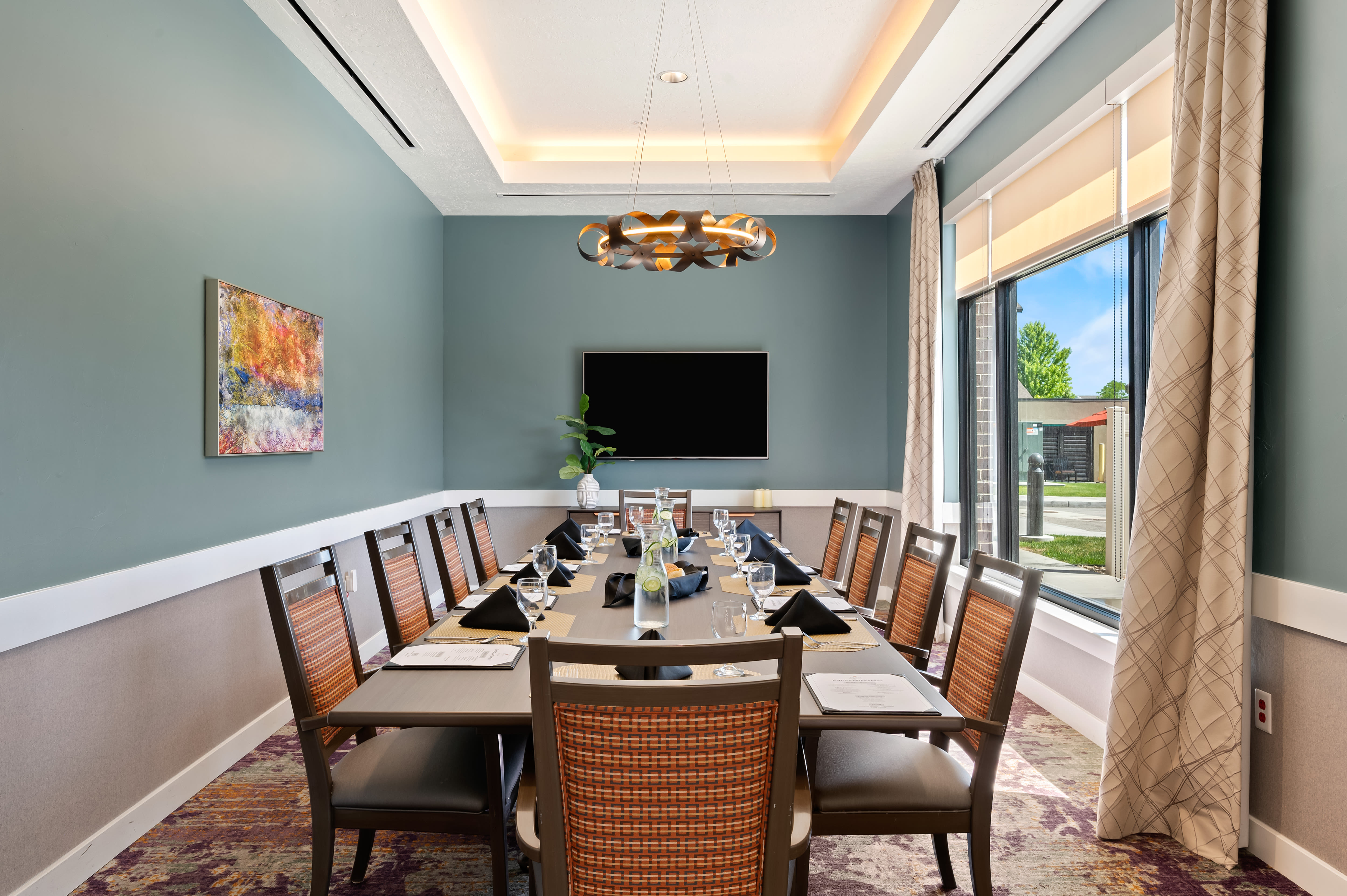 A private dining room at Anthology of South Jordan in South Jordan, Utah