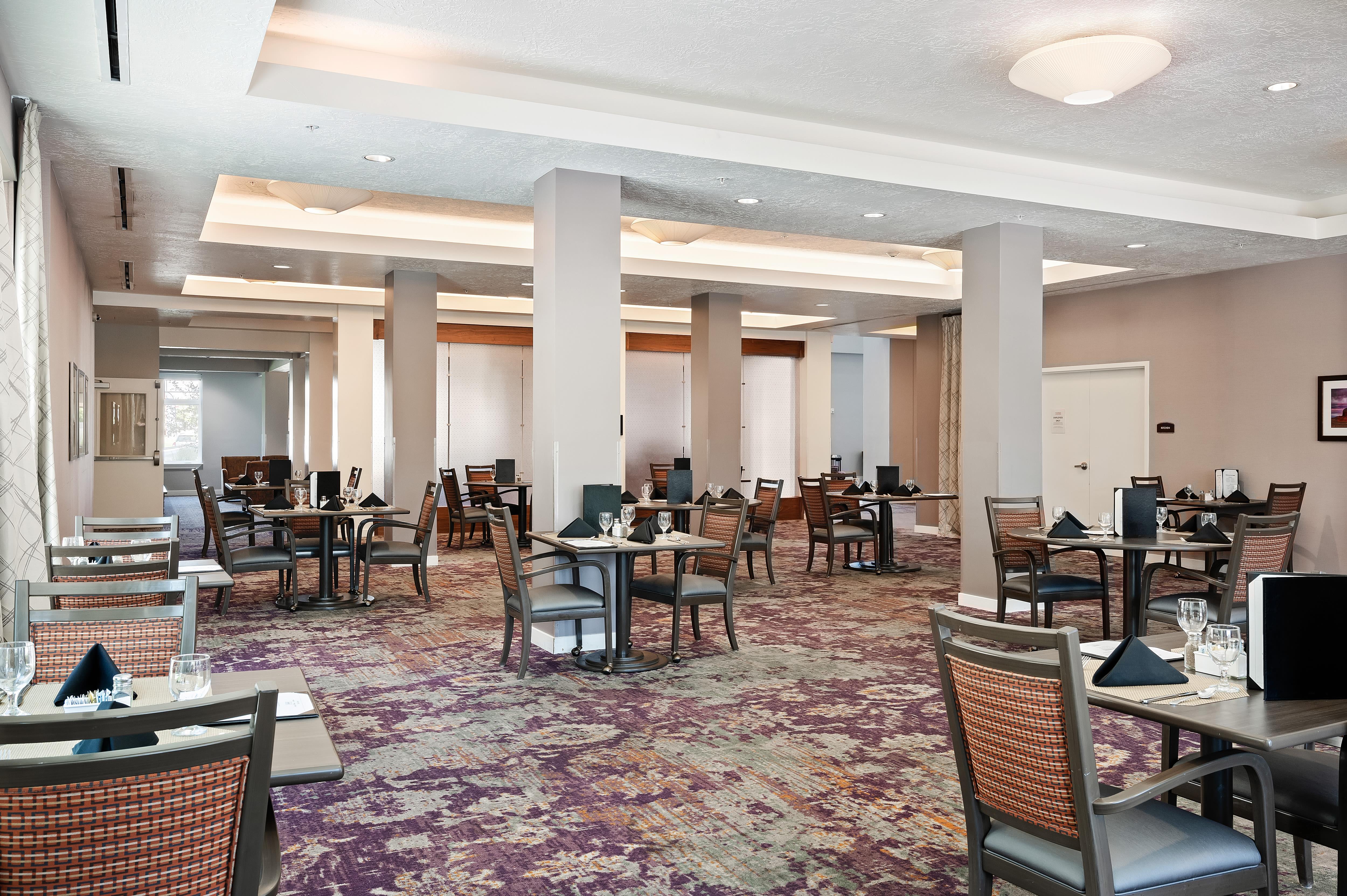 A large dining room at Anthology of South Jordan in South Jordan, Utah