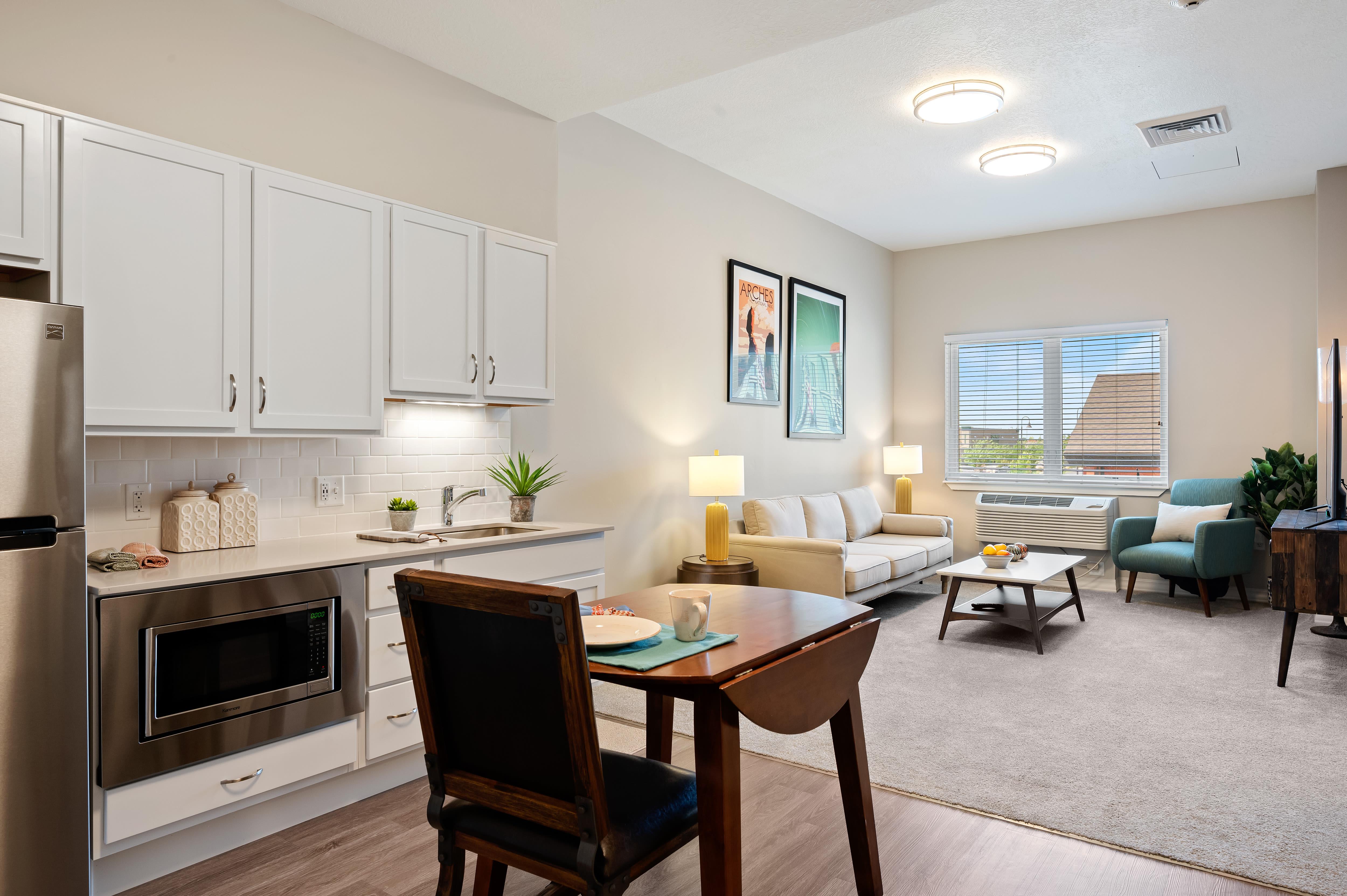 A spacious resident apartment at Anthology of South Jordan in South Jordan, Utah