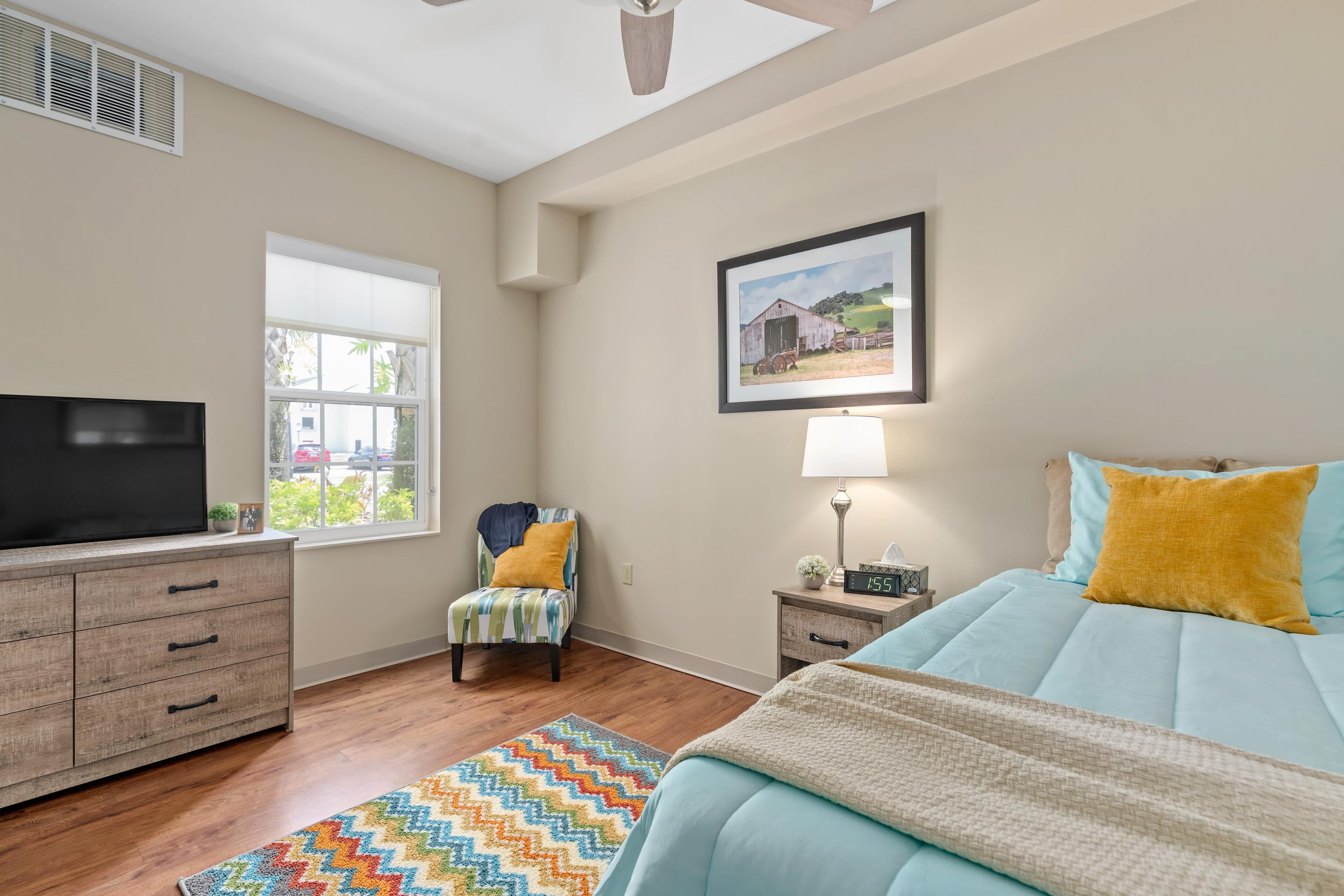 Cozy bedroom at Gentry Park Orlando in Orlando, FL