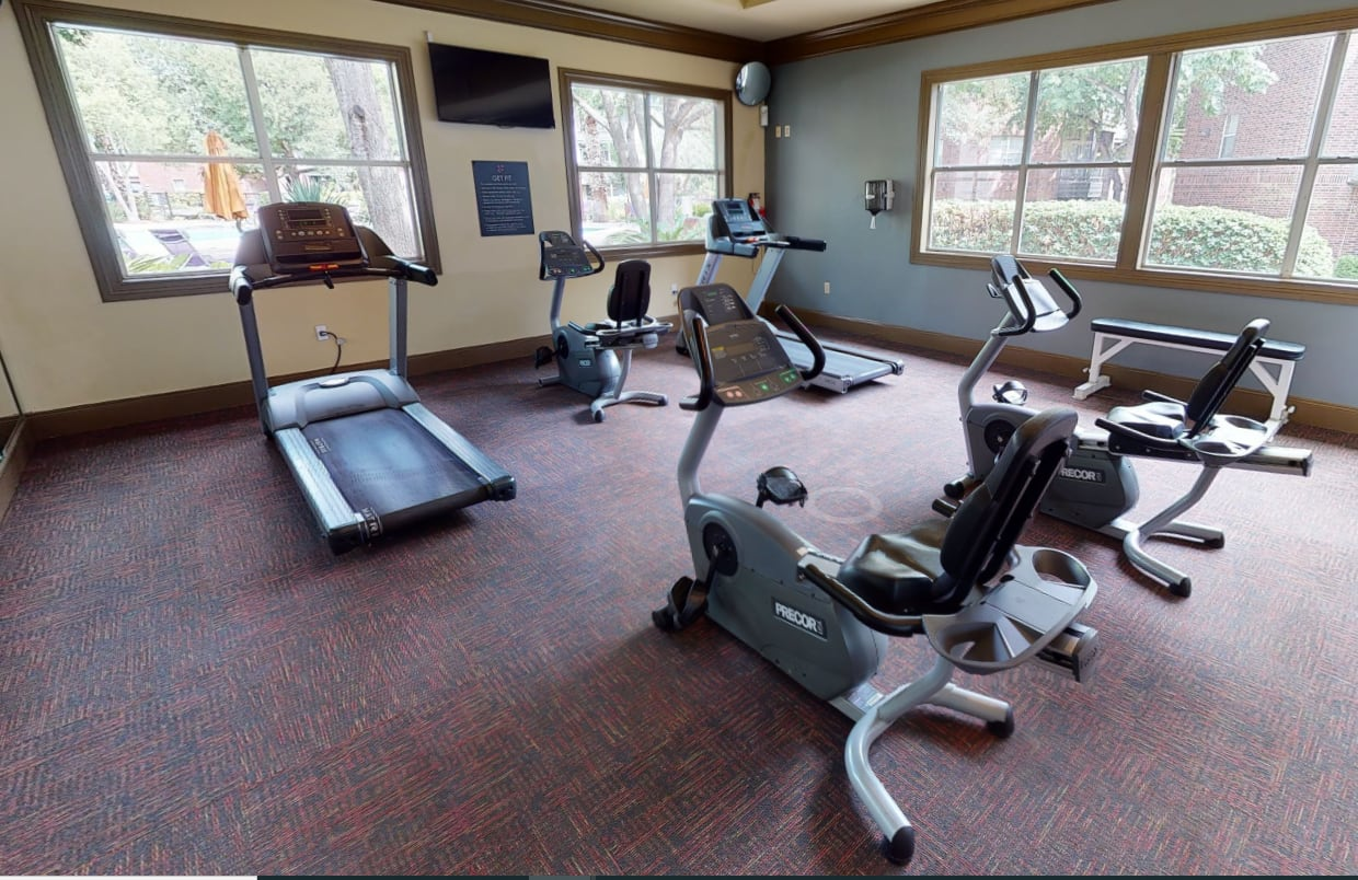 View virtual tour for the fitness center at Alon at Castle Hills in San Antonio, Texas