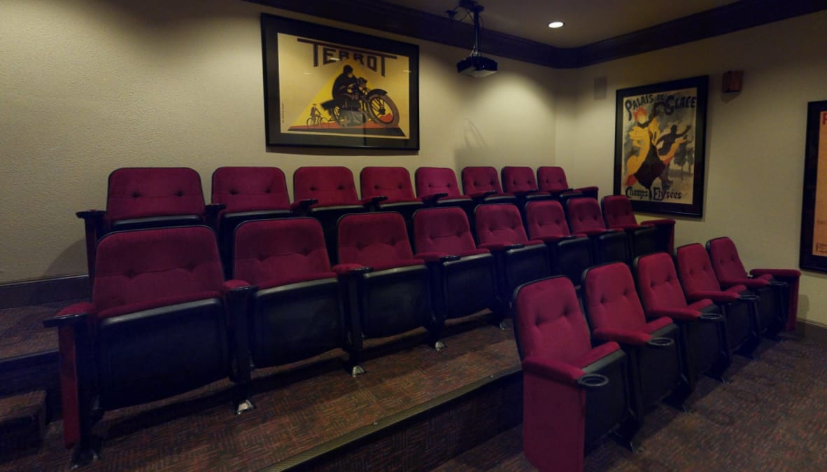 View virtual tour of the resident movie theater at Alon at Castle Hills in San Antonio, Texas
