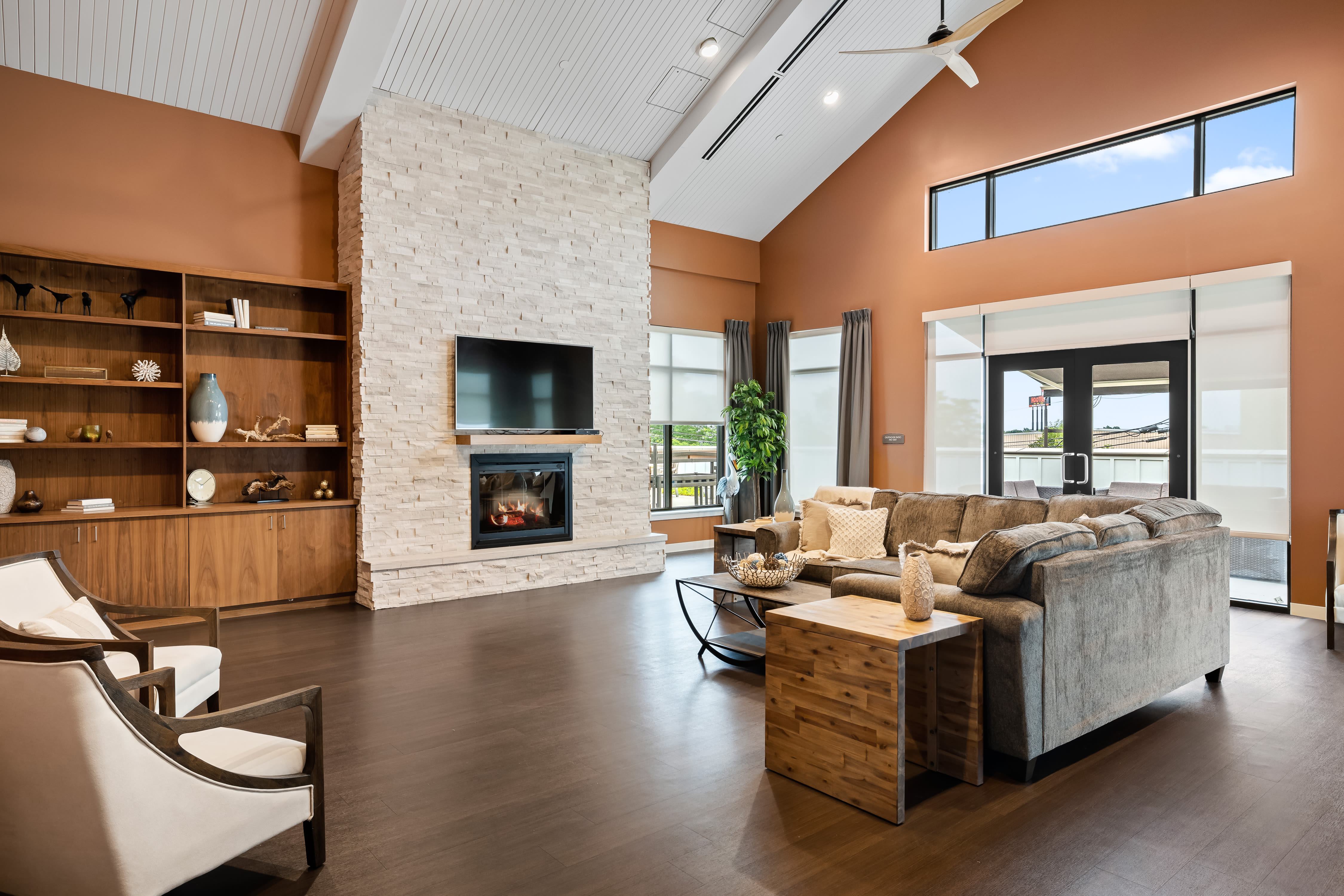 Resident lounge area at Anthology of Mason in Mason, Ohio