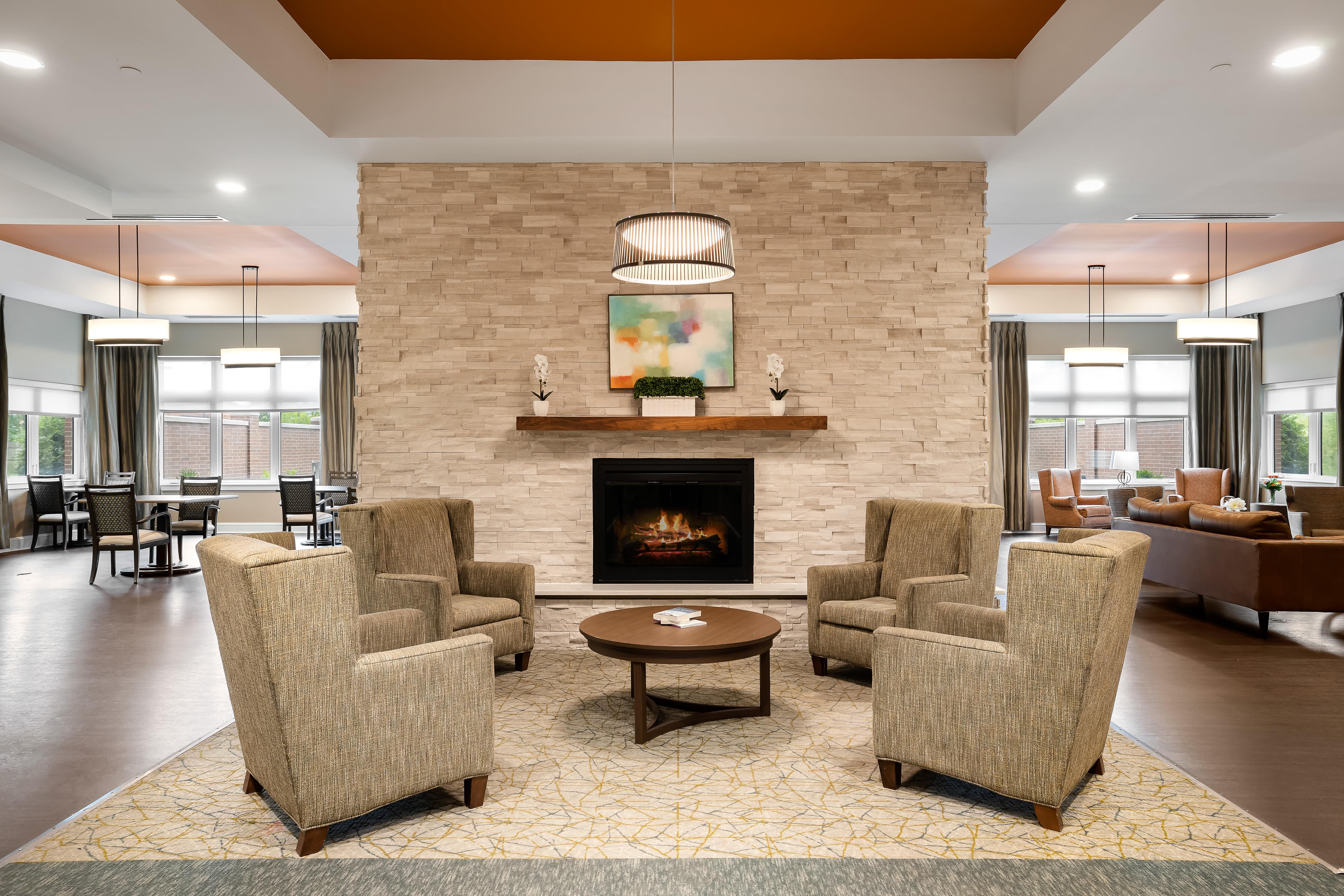 Comfy seating area at Anthology of Mason in Mason, Ohio