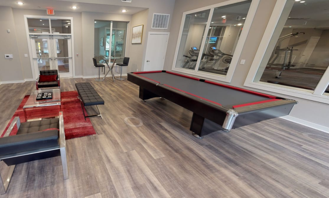 View virtual tour of the club room at Aspire at 610 in Houston, Texas