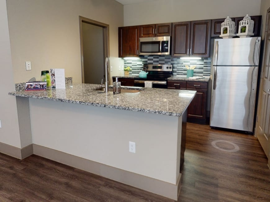 View virtual tour for 1 bedroom 1 bathroom apartment at Beck at Wells Branch in Austin, Texas