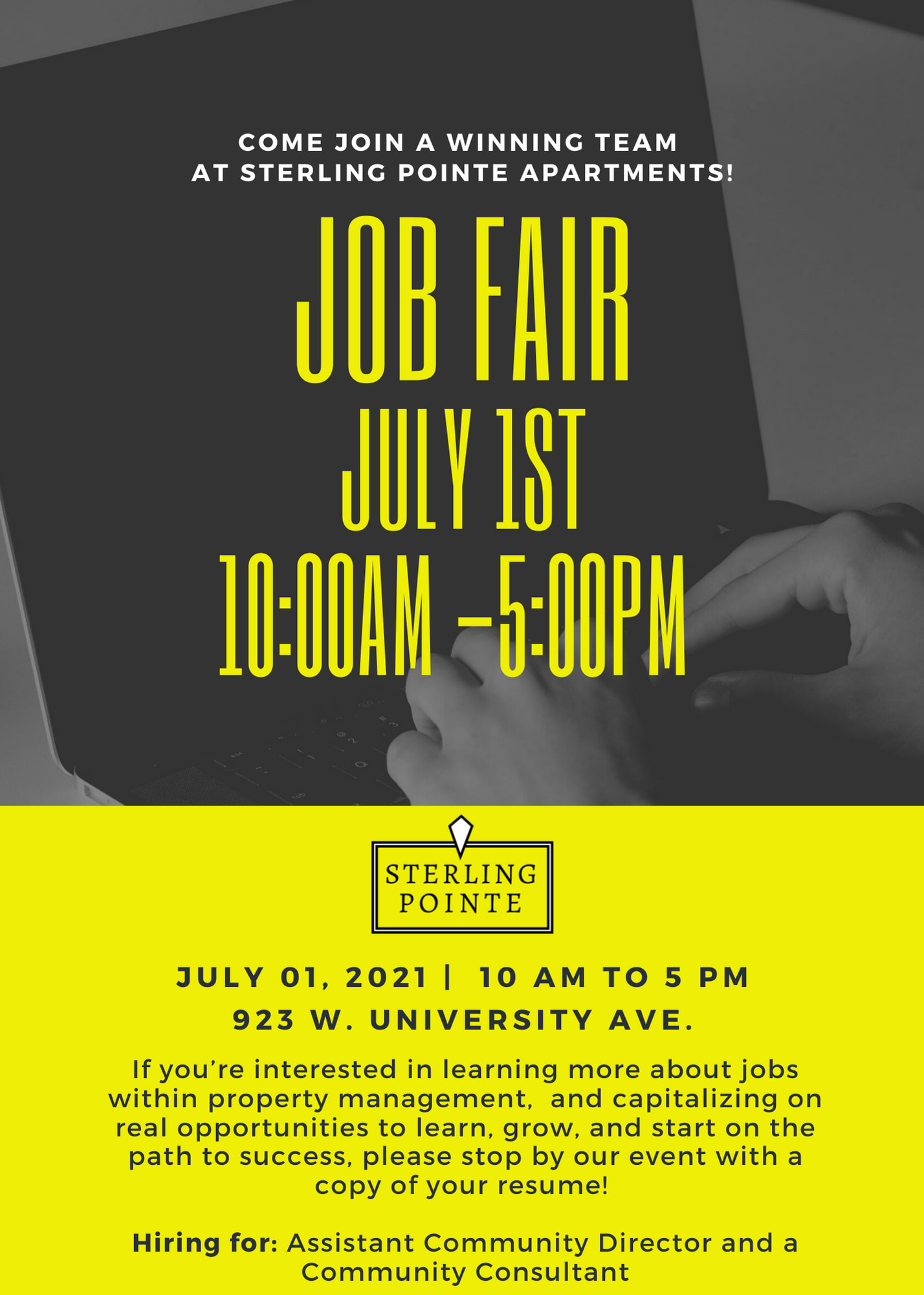 Job Fair at Sterling Pointe in Flagstaff, AZ