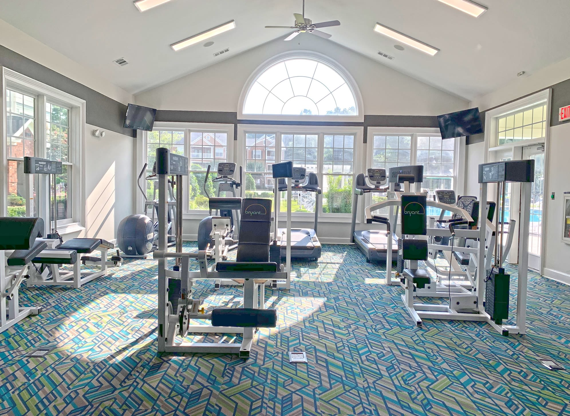 View virtual tour of the fitness center at Bryant at Summerville in Summerville, South Carolina
