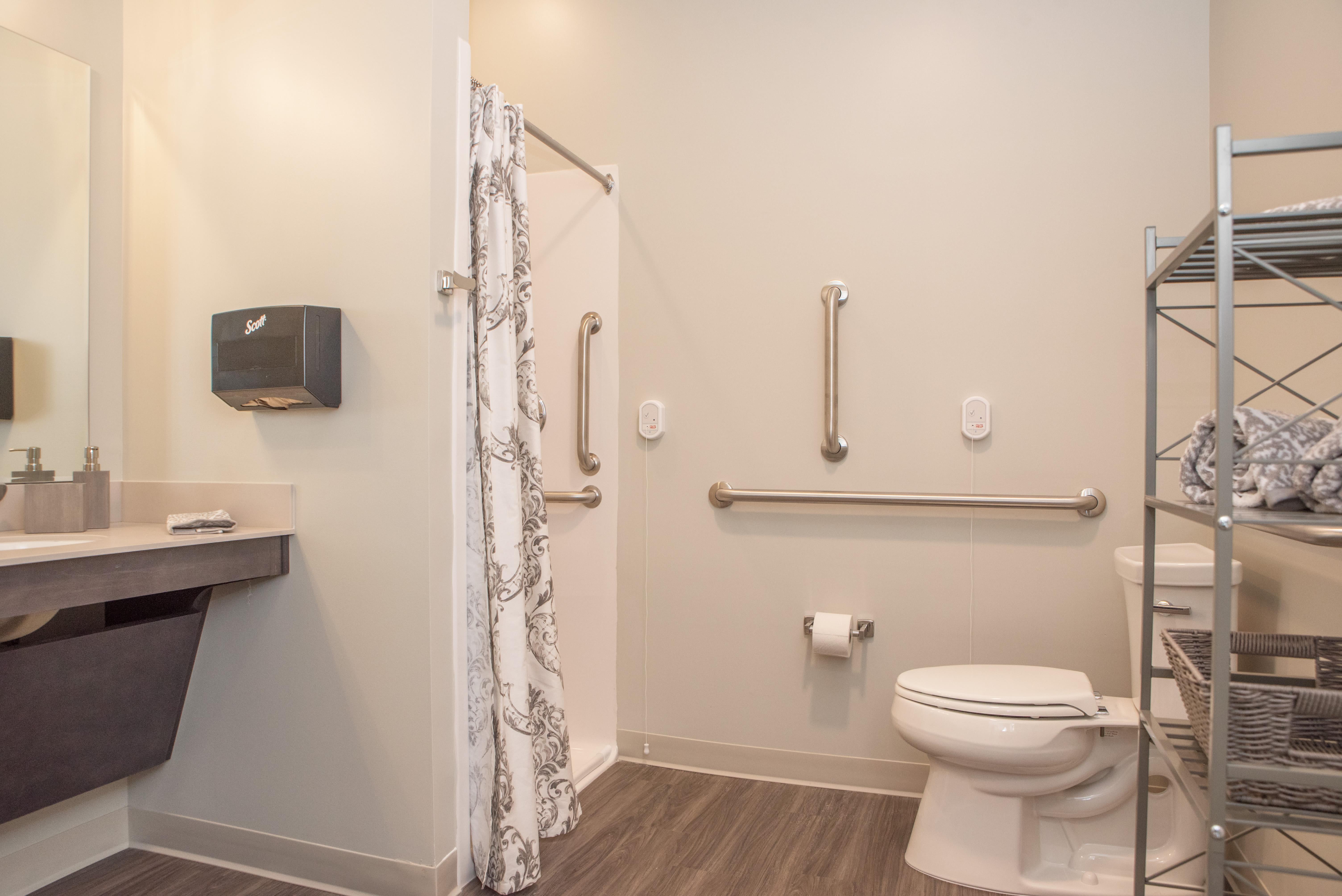 Bathroom at Cooper Trail Senior Living in Bardstown, Kentucky