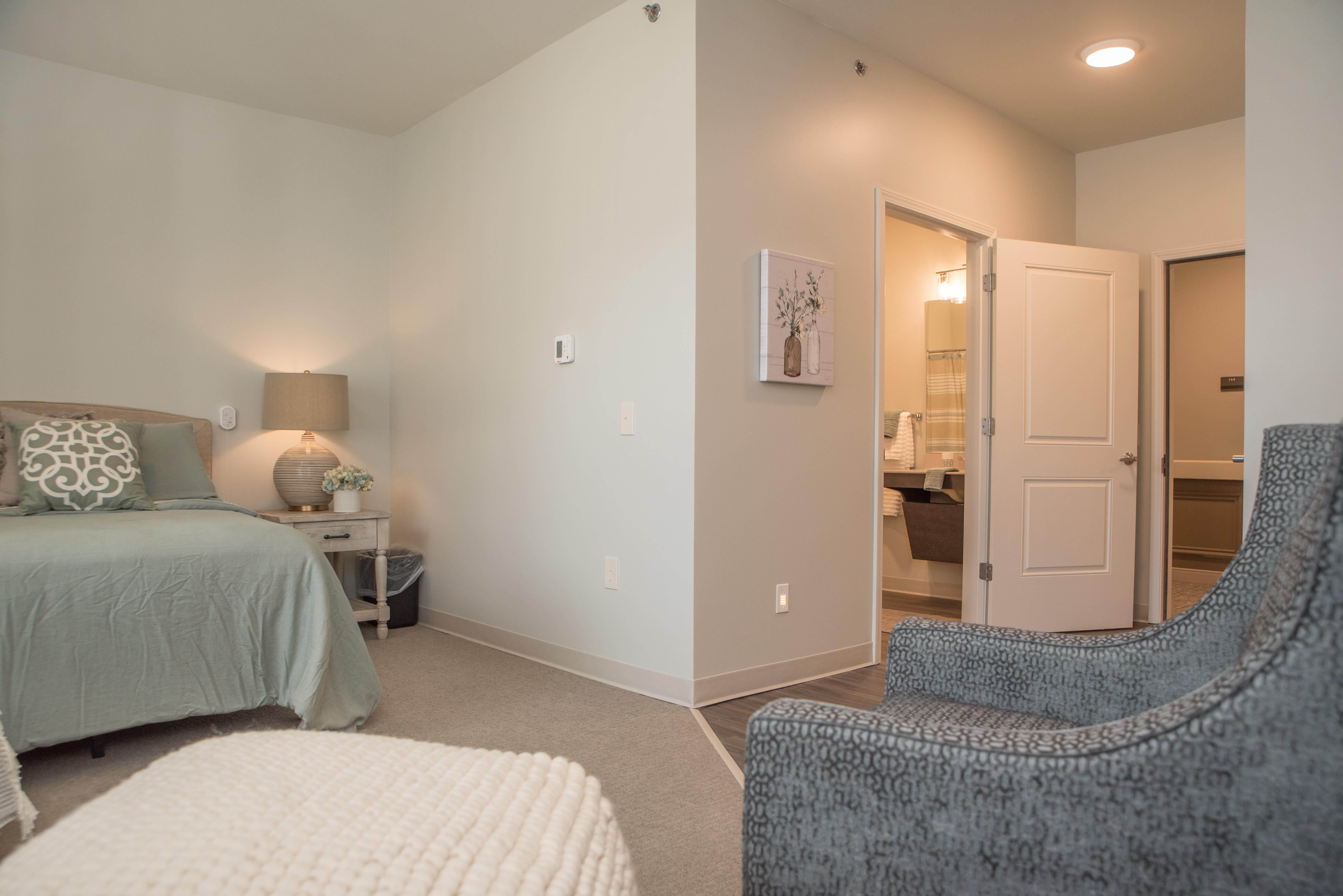 bedroom at Cooper Trail Senior Living in Bardstown, Kentucky
