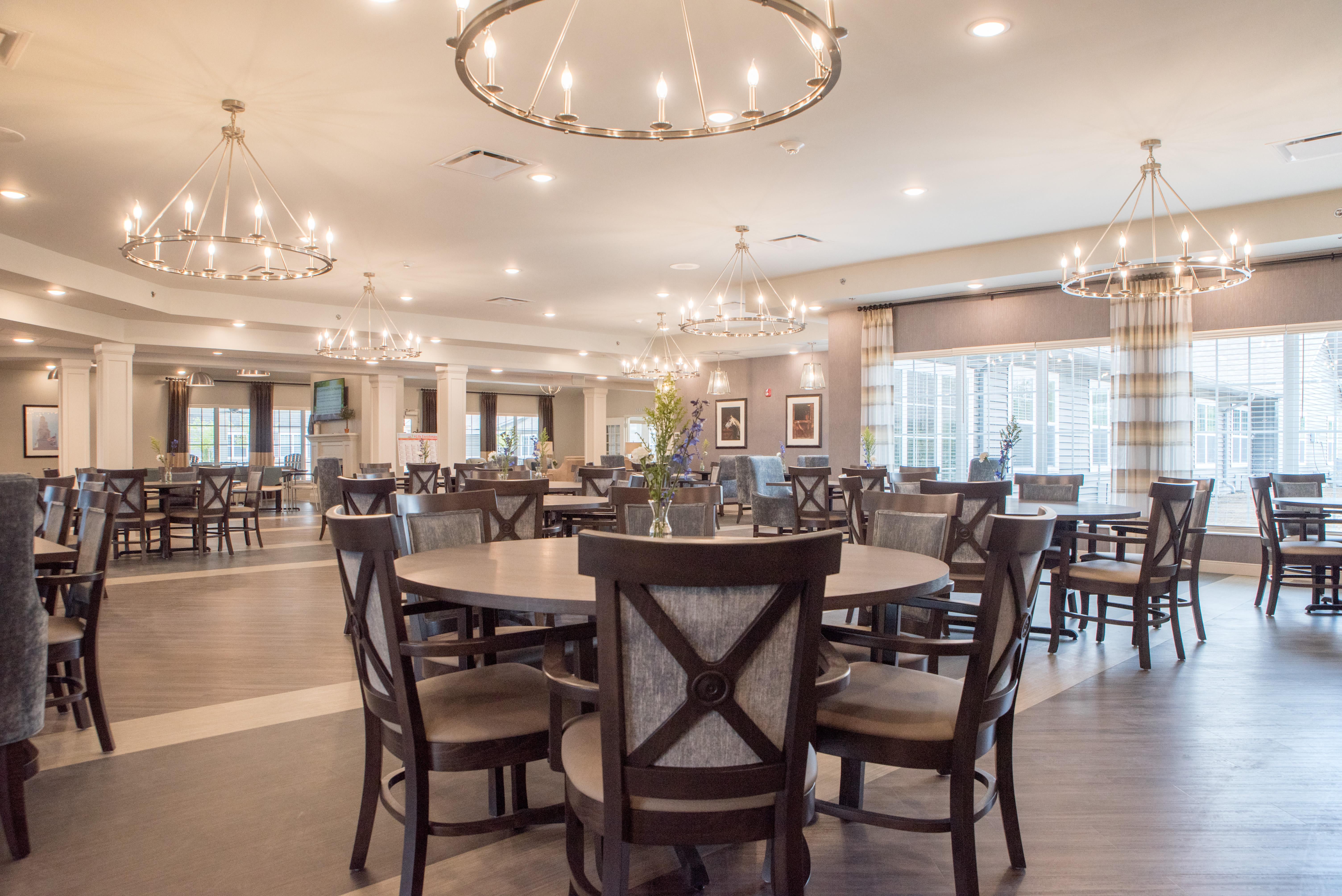 Resident dining room at Boonesboro Trail Senior Living in Winchester, Kentucky.