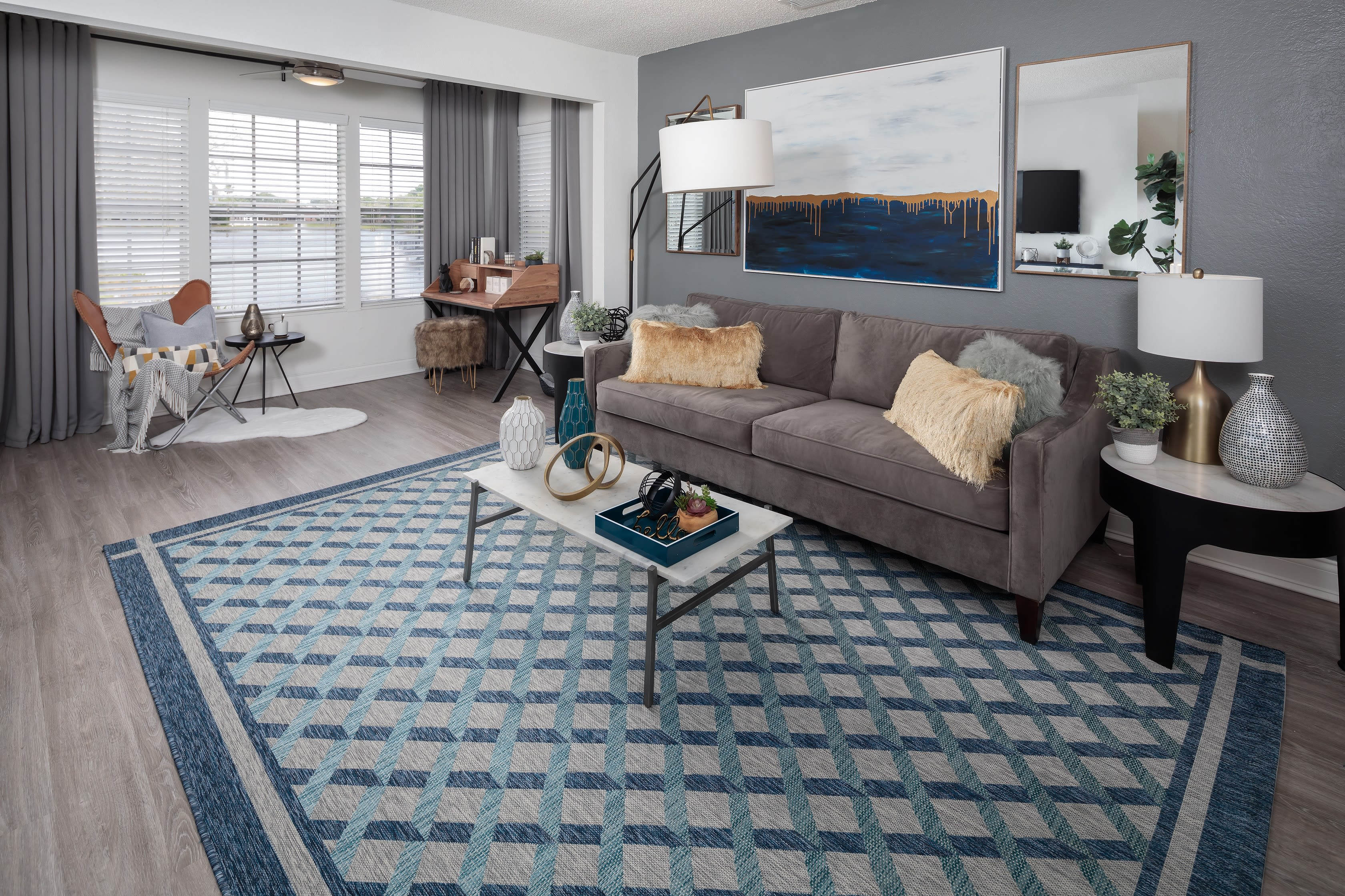 View virtual tour of 1 bedroom 1 bathroom home at Fairways at Feather Sound in Clearwater, Florida