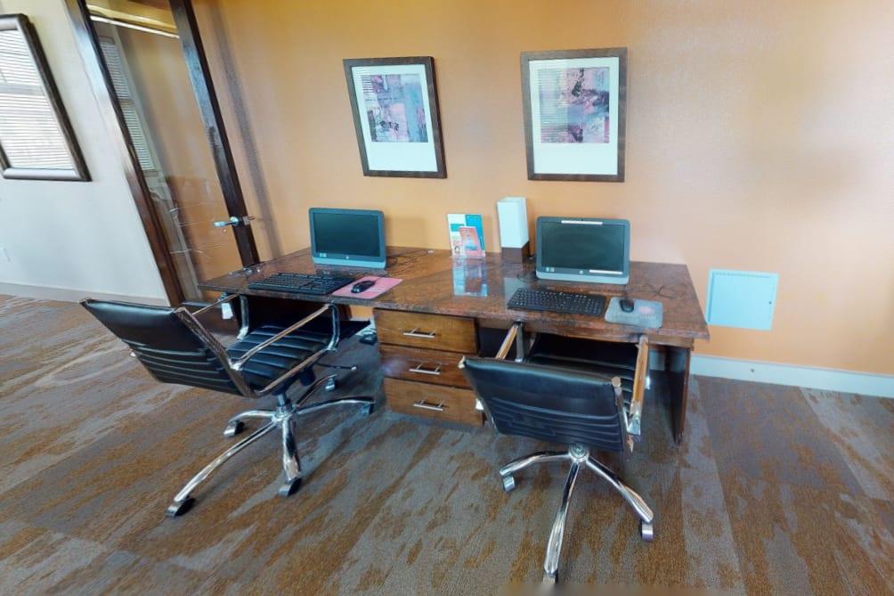 View virtual tour of our business center at Firewheel Apartments in San Antonio, Texas