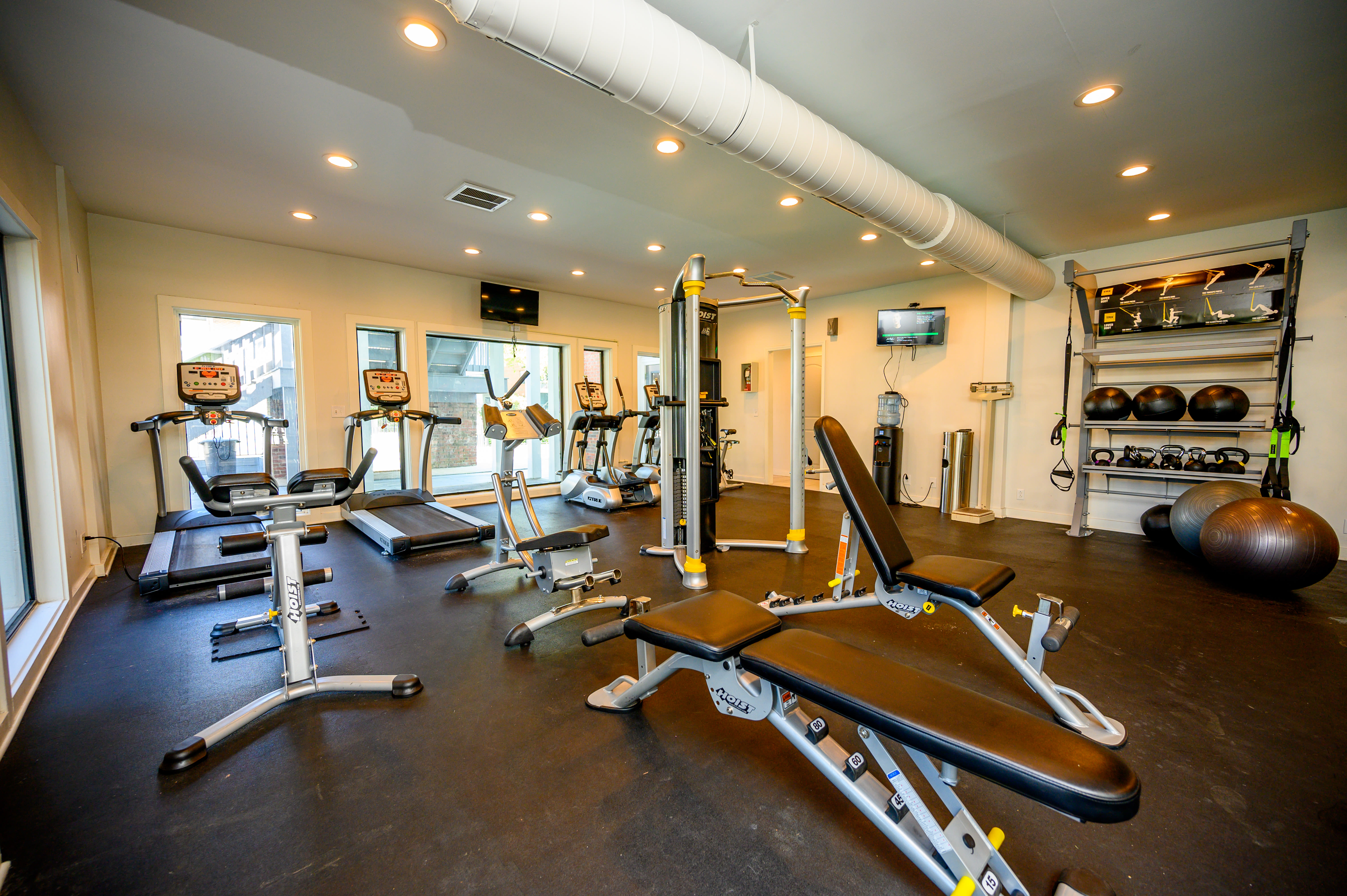 View virtual tour fitness center at Lyric on Bell in Antioch, Tennessee
