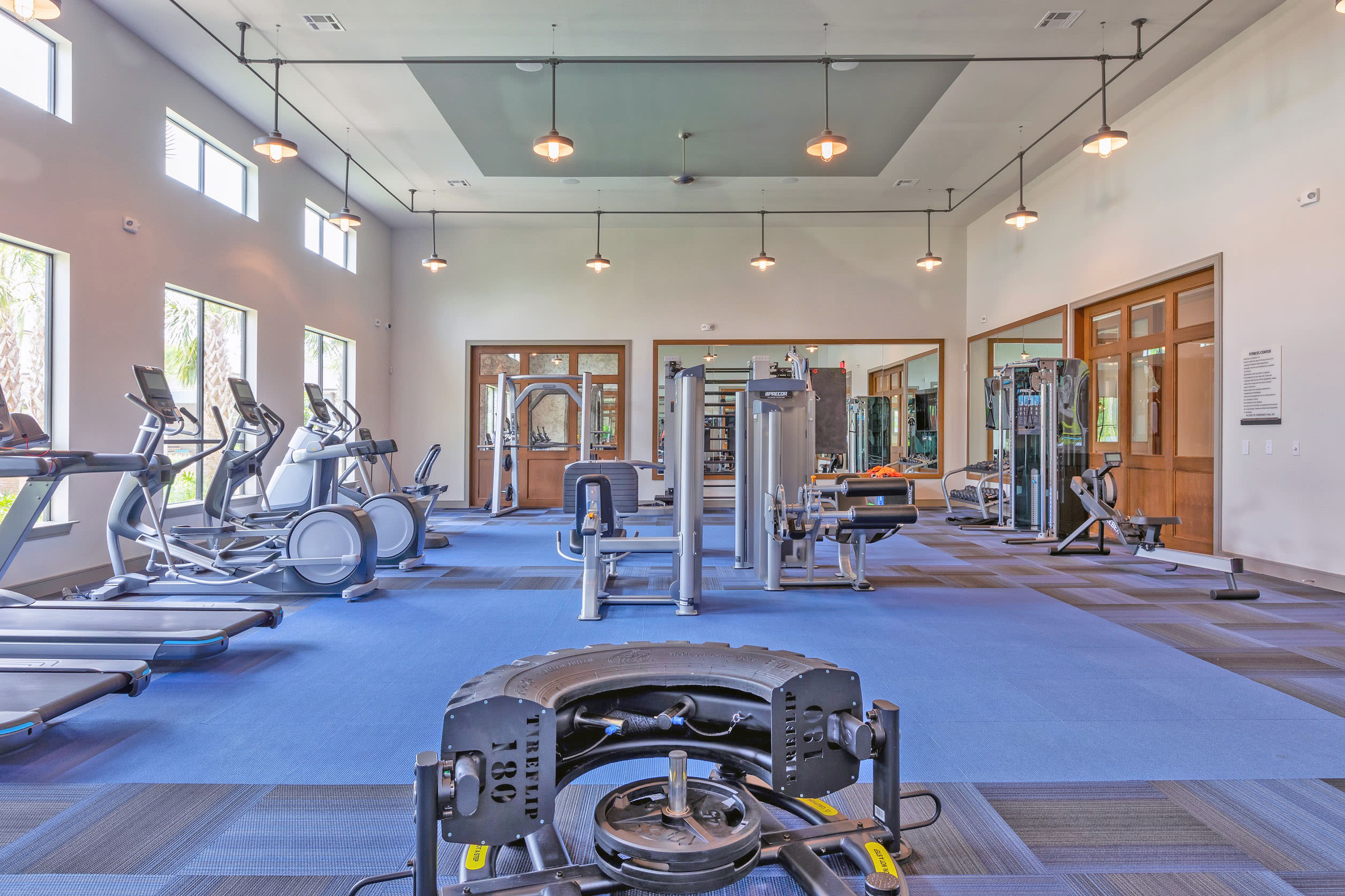 View virtual tour of a fitness center at Opal at Barker Cypress in Houston, Texas