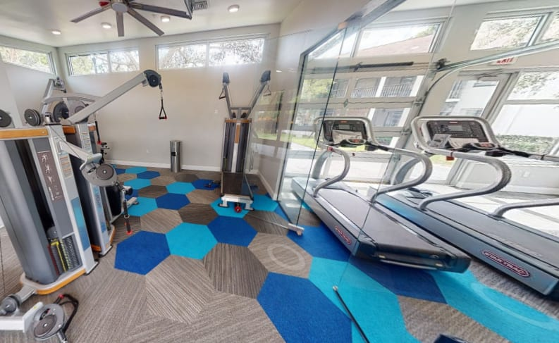 View virtual tour of the fitness center at Siena Apartments in Plantation, Florida