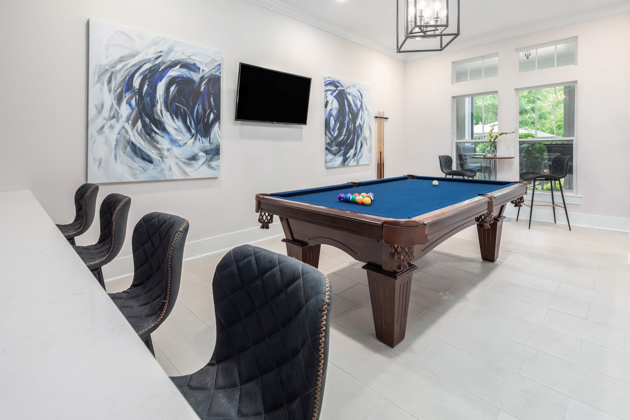 View virtual tour for the billiards room at The District in Charlotte, North Carolina