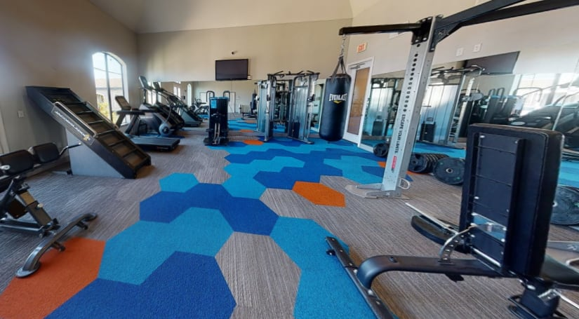 View virtual tour of the fitness center at The JaXon in Kingwood, Texas