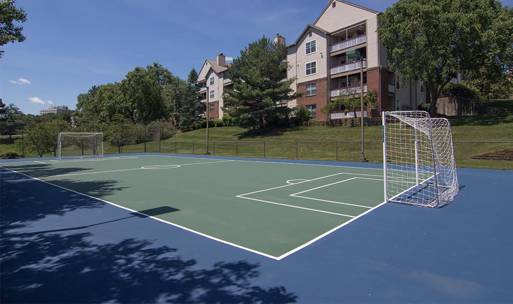Sports court at Club at North Hills in Pittsburgh, Pennsylvania