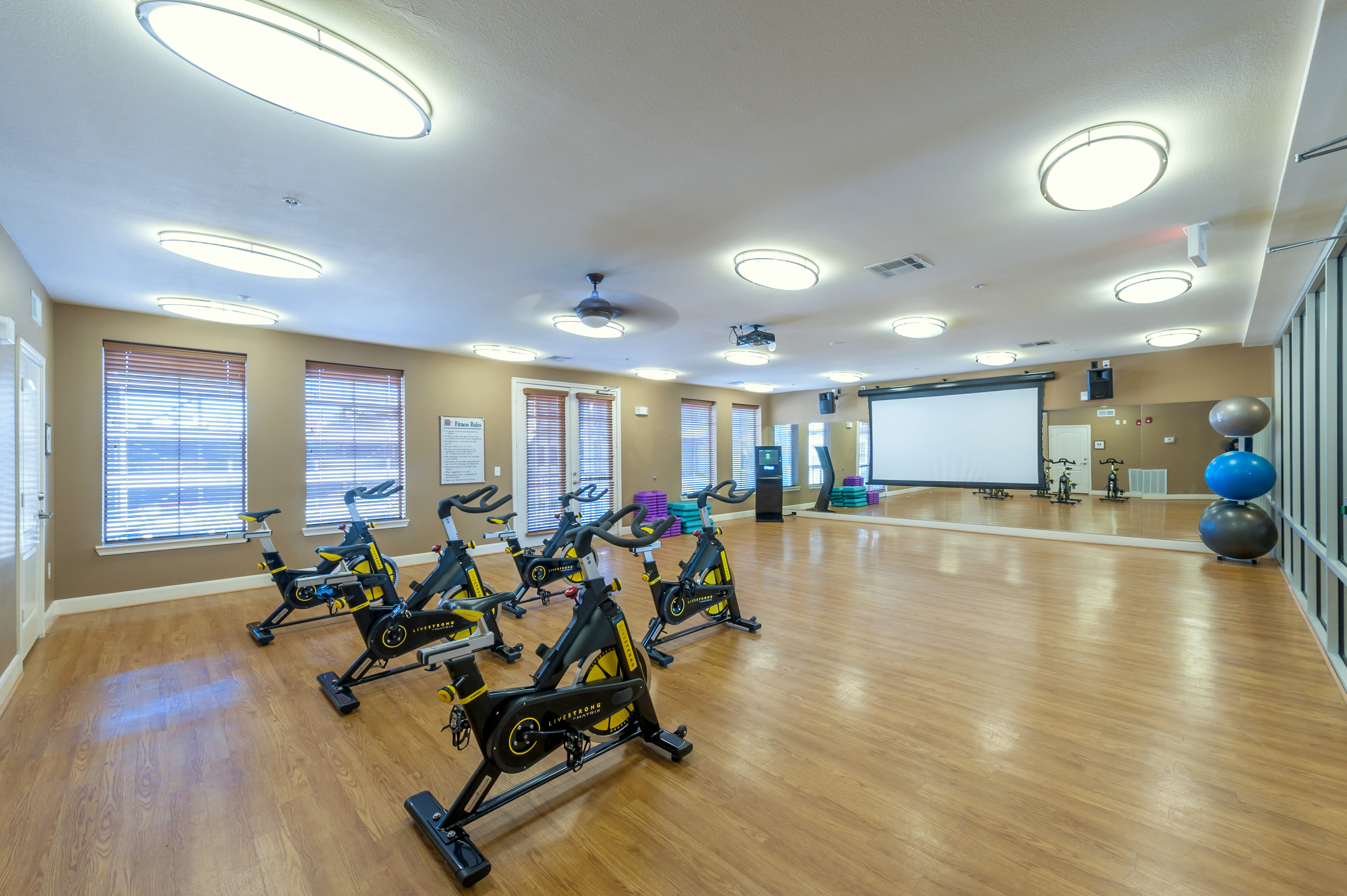 View virtual tour of the yoga and studio at The JaXon in Kingwood, Texas