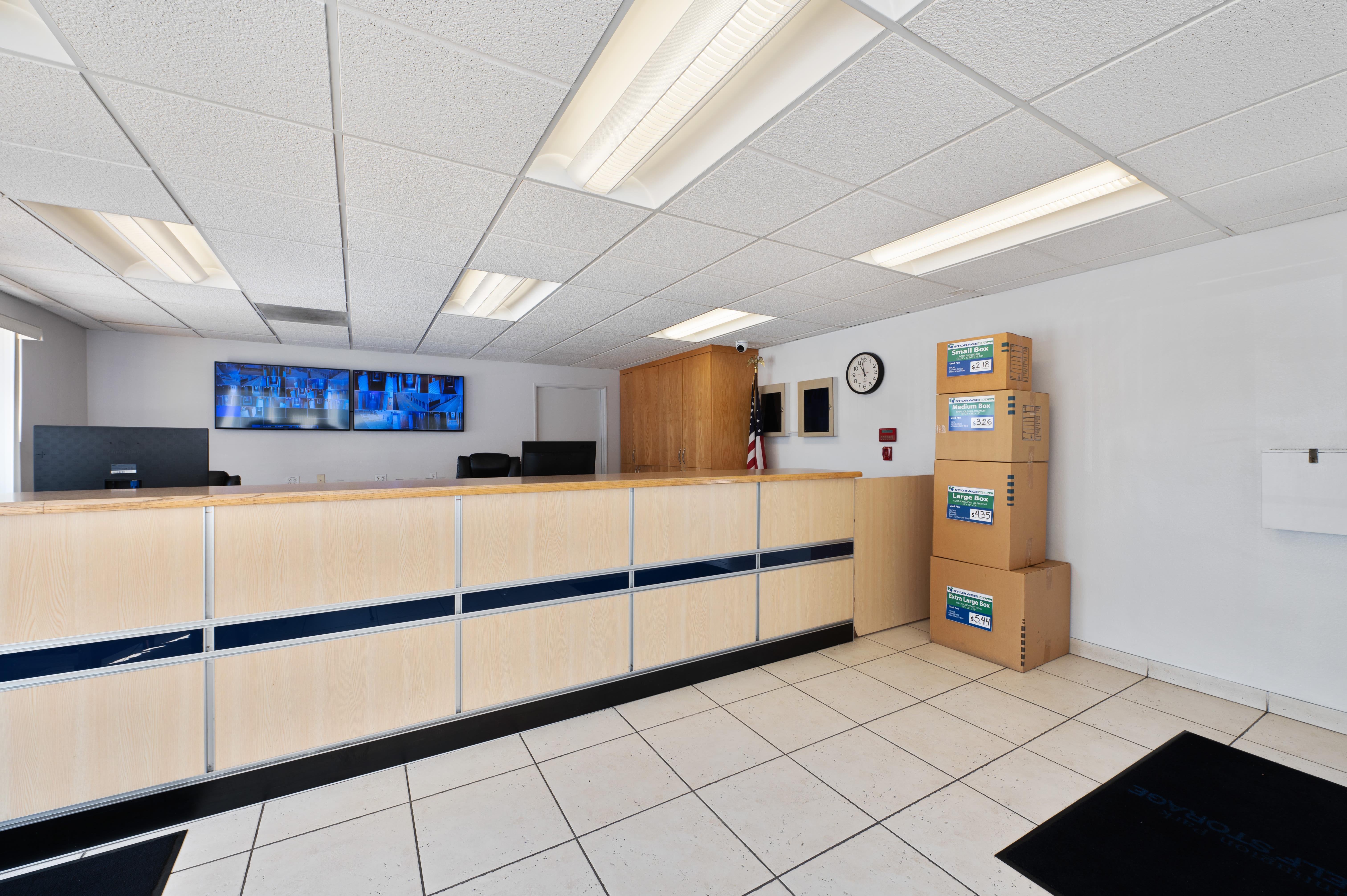 Storage facility leasing office at Huntington Park Self Storage
