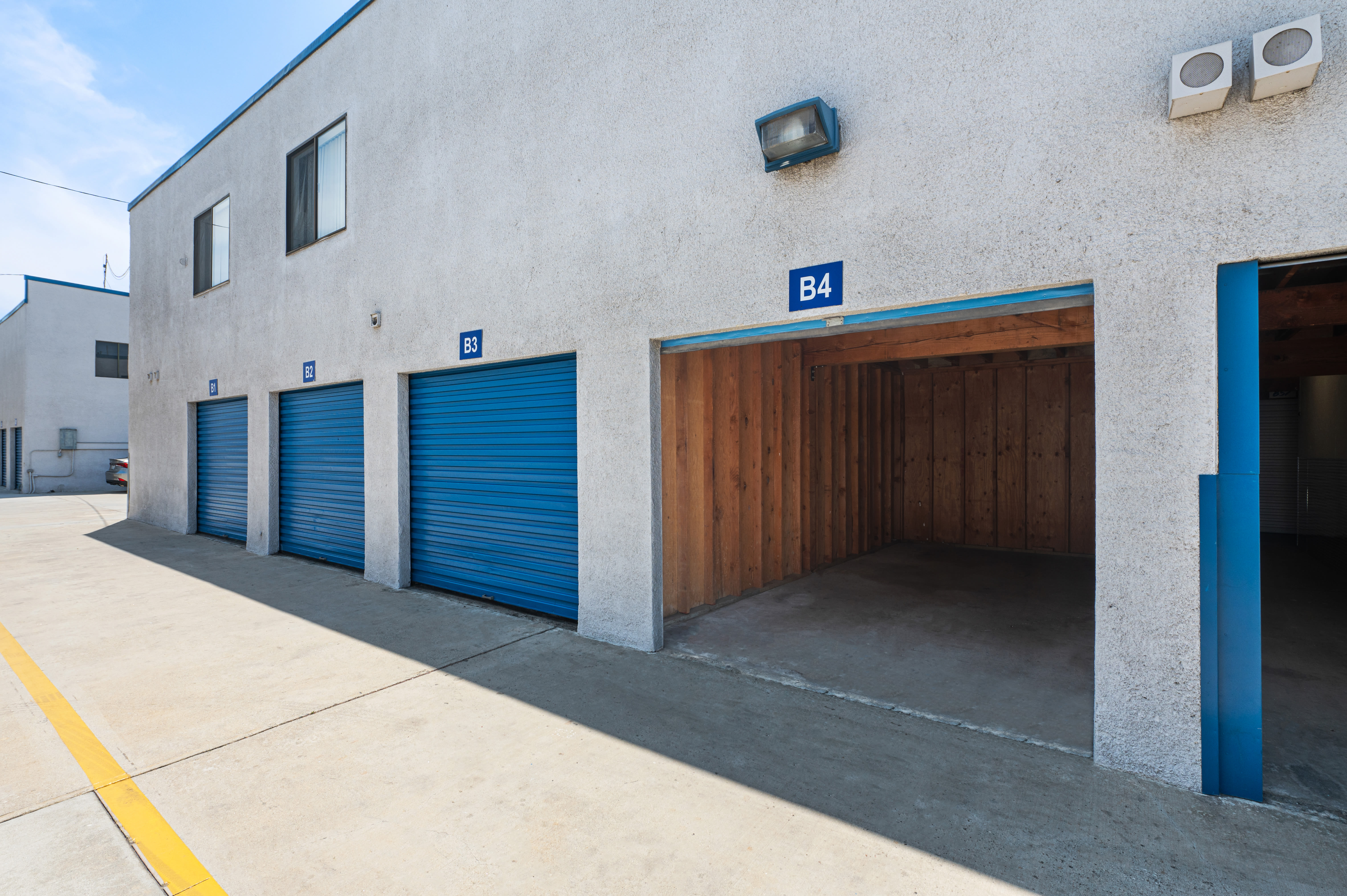 Open outdoor Storage Unit at Huntington Park Self Storage