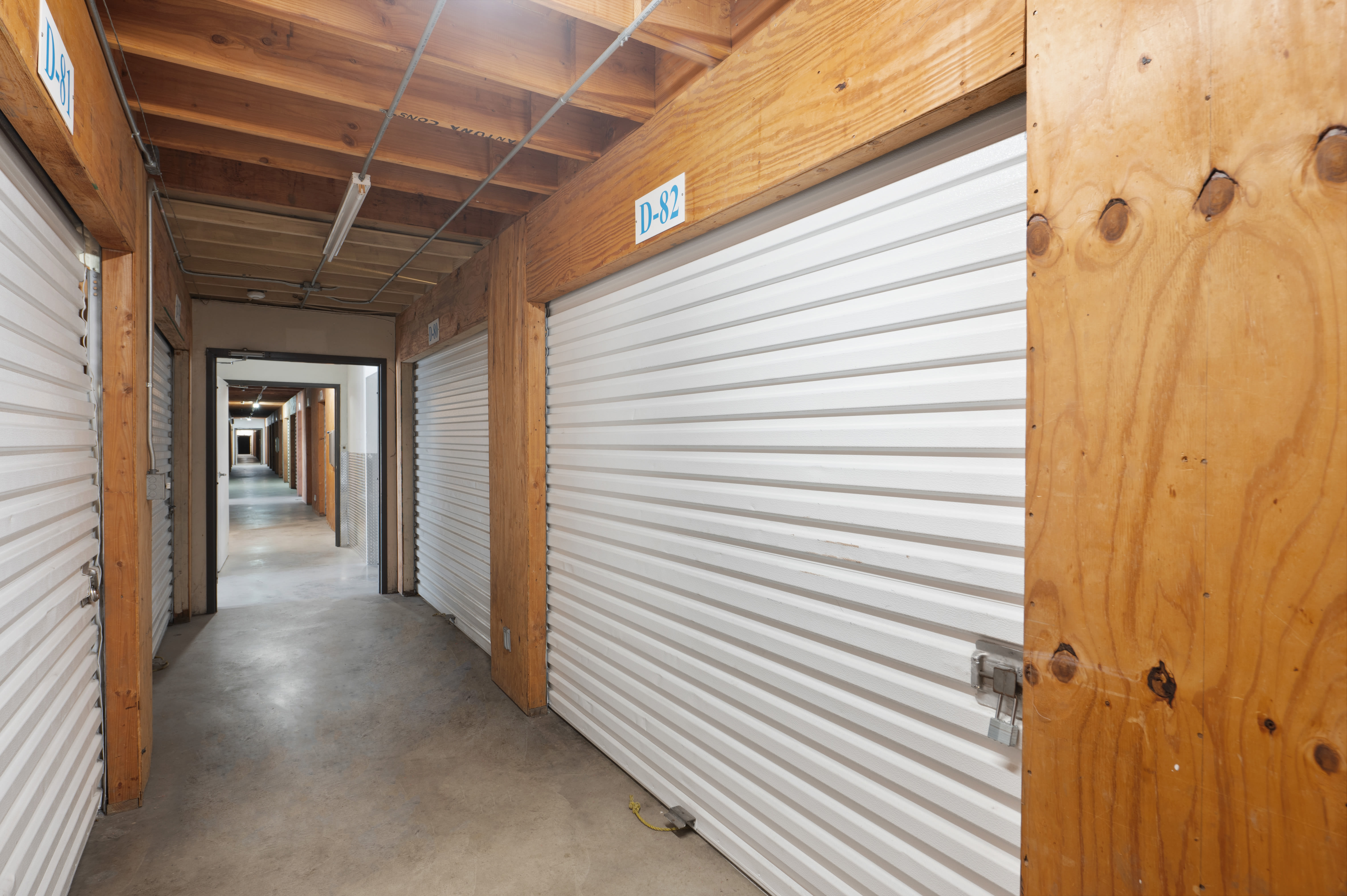 Indoor storage units at Huntington Park Self Storage