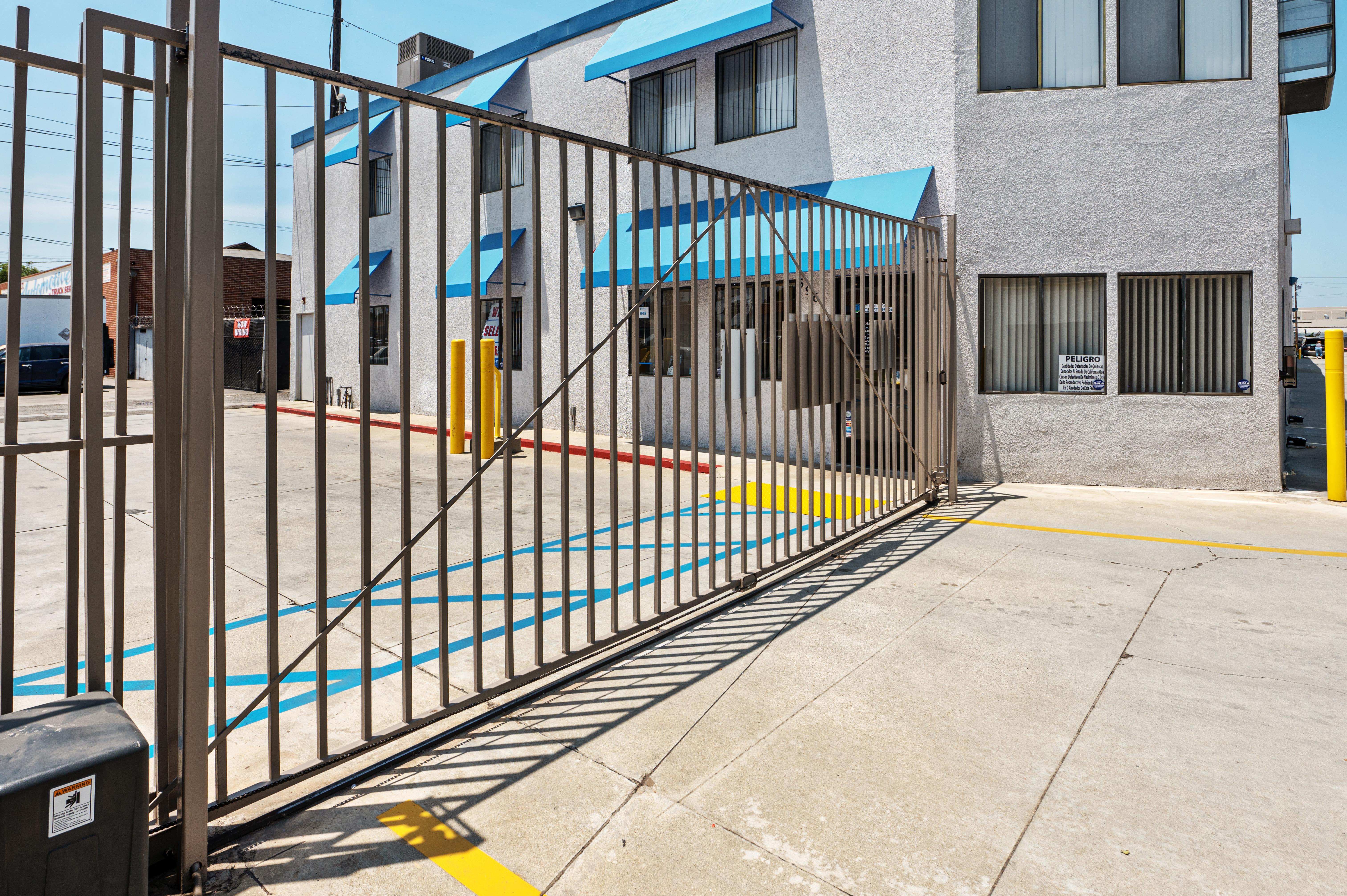 Gate access at Huntington Park Self Storage