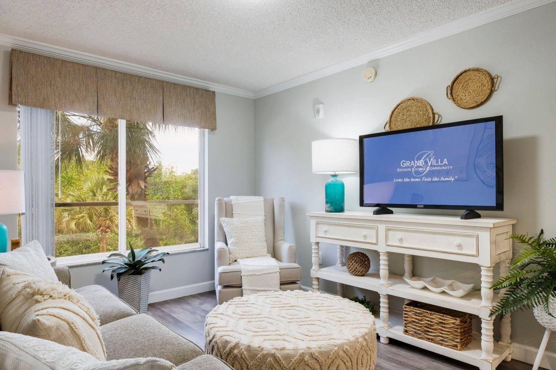 Living room at Grand Villa of Sarasota