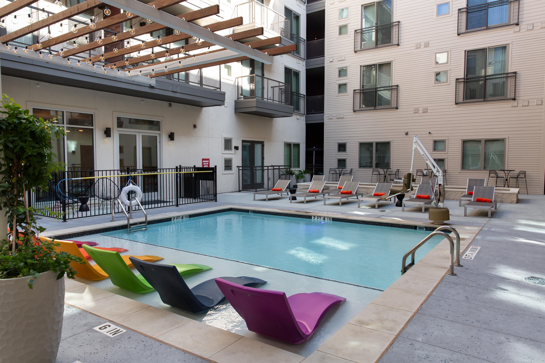 Sparkling pool at Flora in Austin, Texas