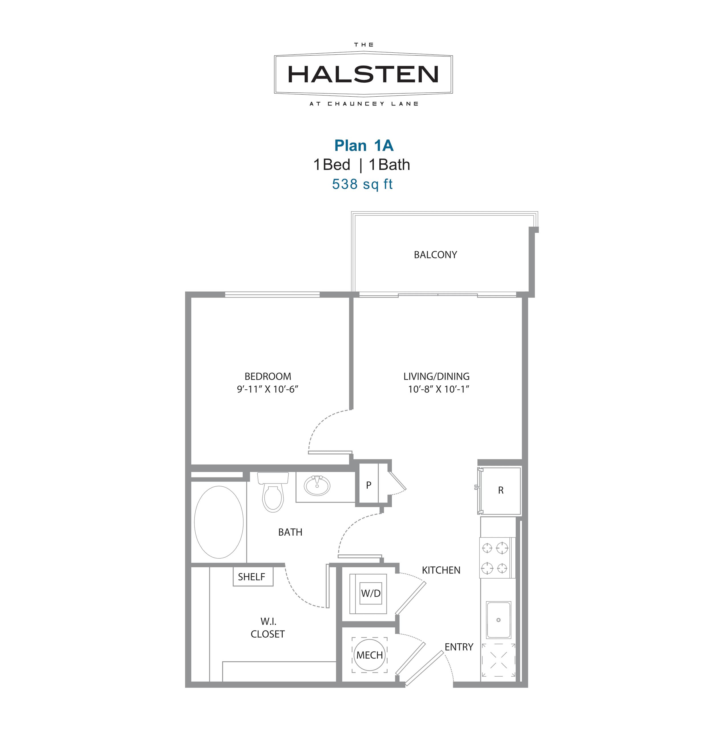 1B floorplan
