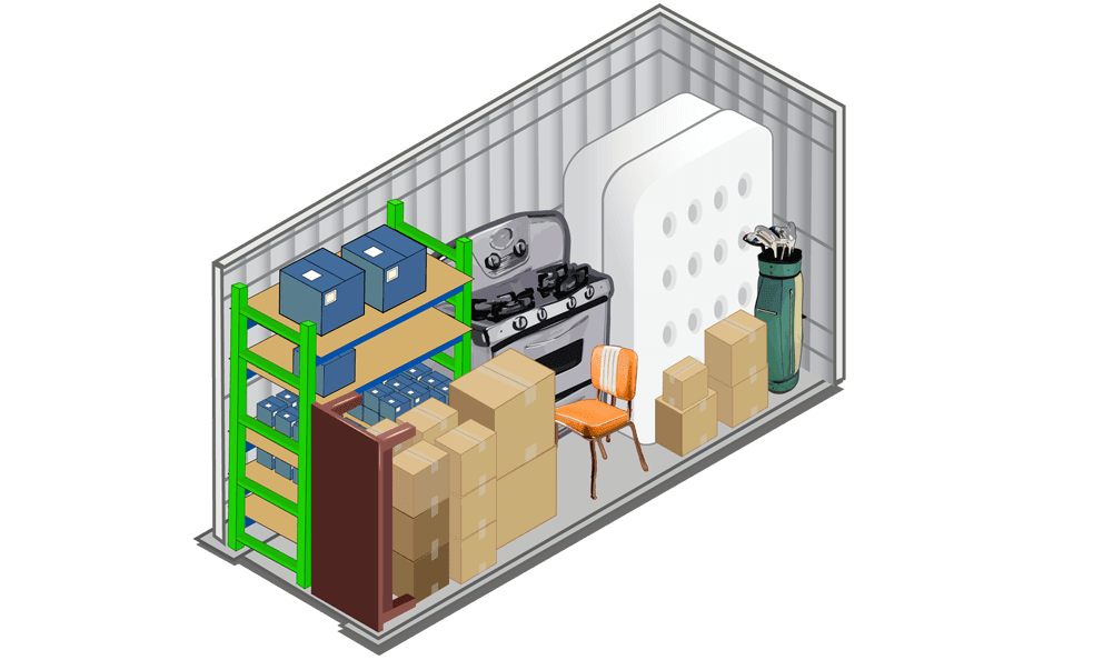 View our 5x10 storage unit at Winter's Storage