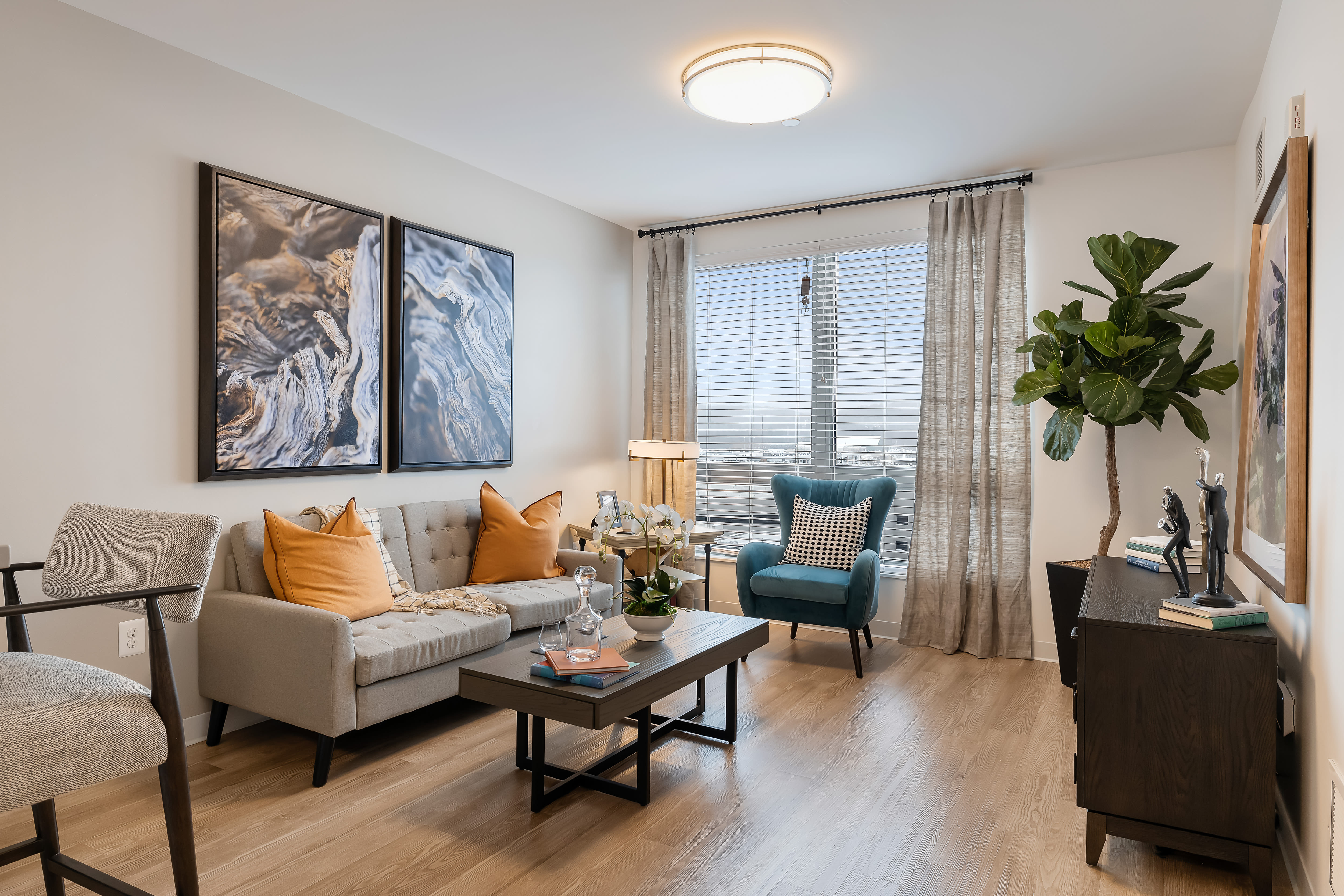 Furnished living room at Anthology of King of Prussia – Now Open in King of Prussia, Pennsylvania