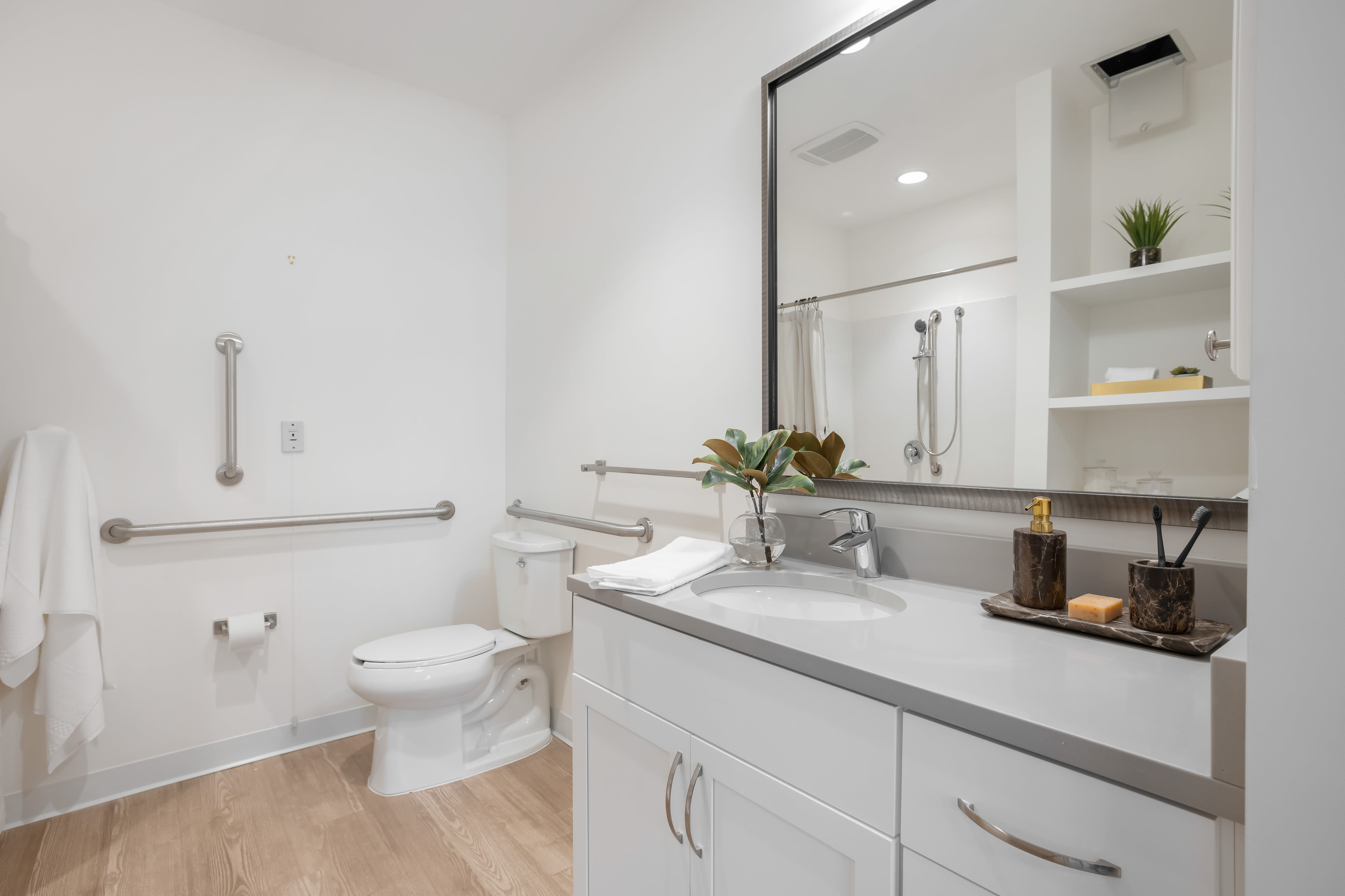 Bathroom at Anthology of King of Prussia – Now Open in King of Prussia, Pennsylvania