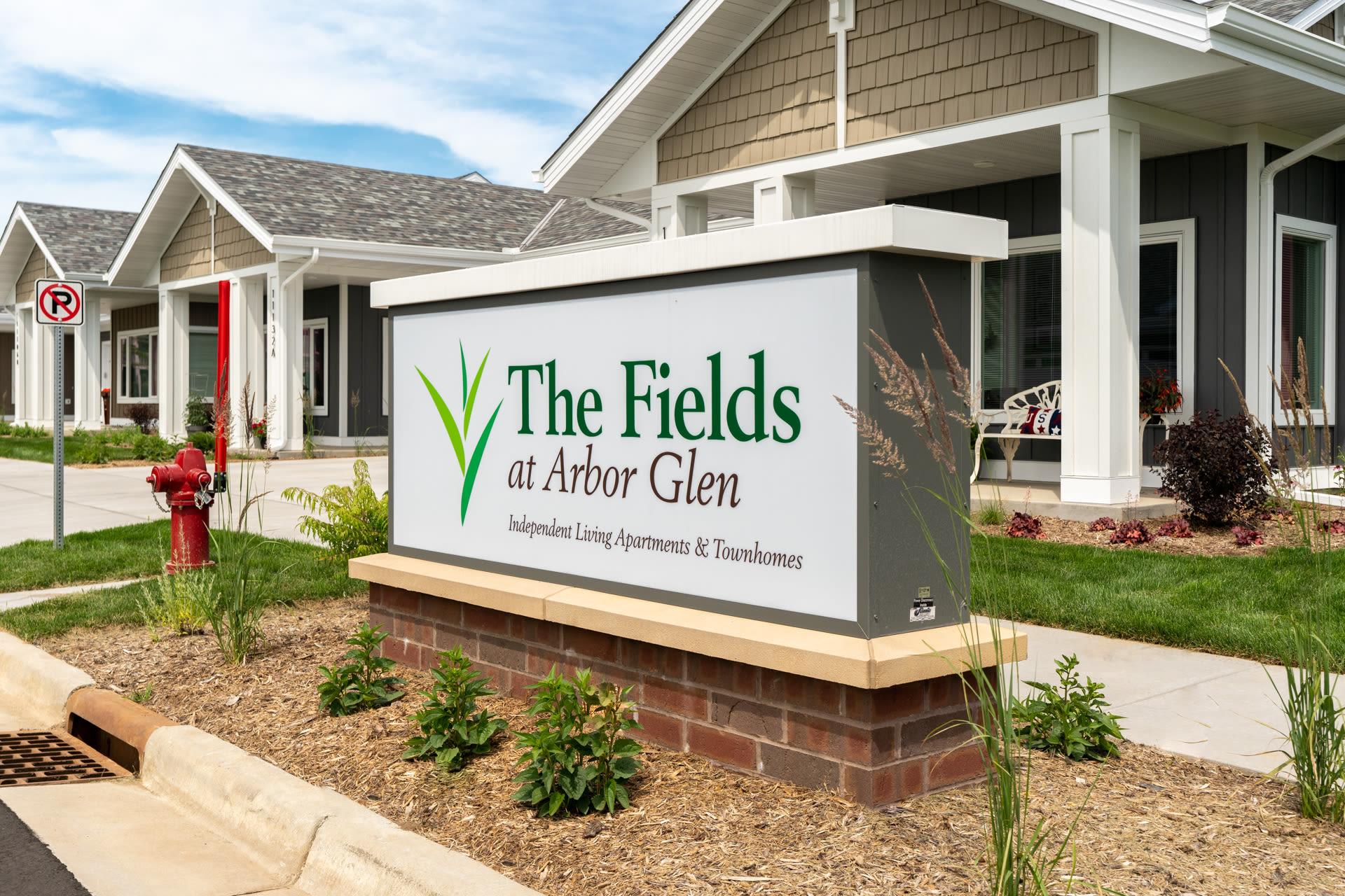 The Fields at Arbor Glen outdoor sign in Lake Elmo, Minnesota