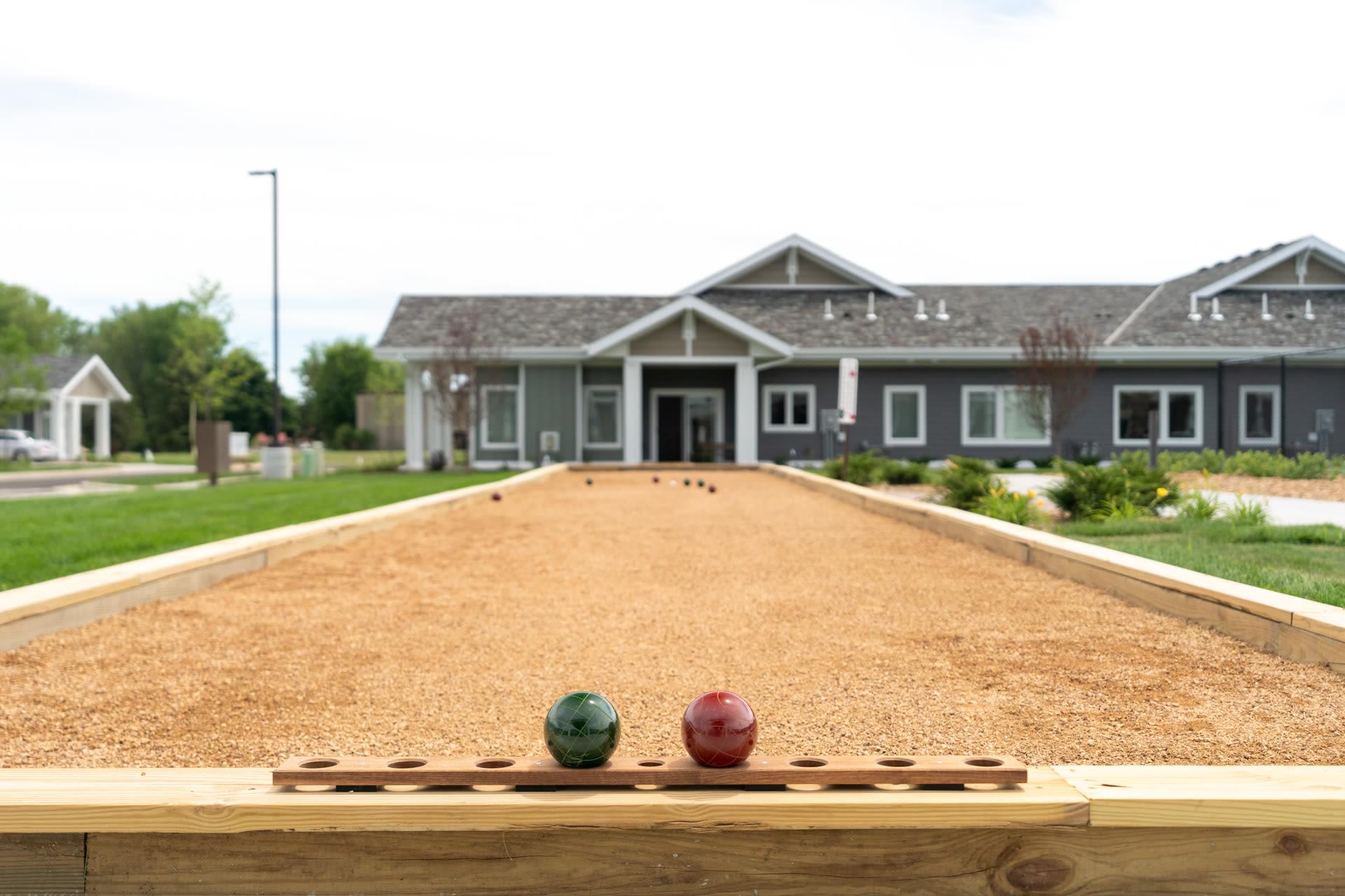 Pickle ball court at The Fields at Arbor Glen in Lake Elmo, Minnesota