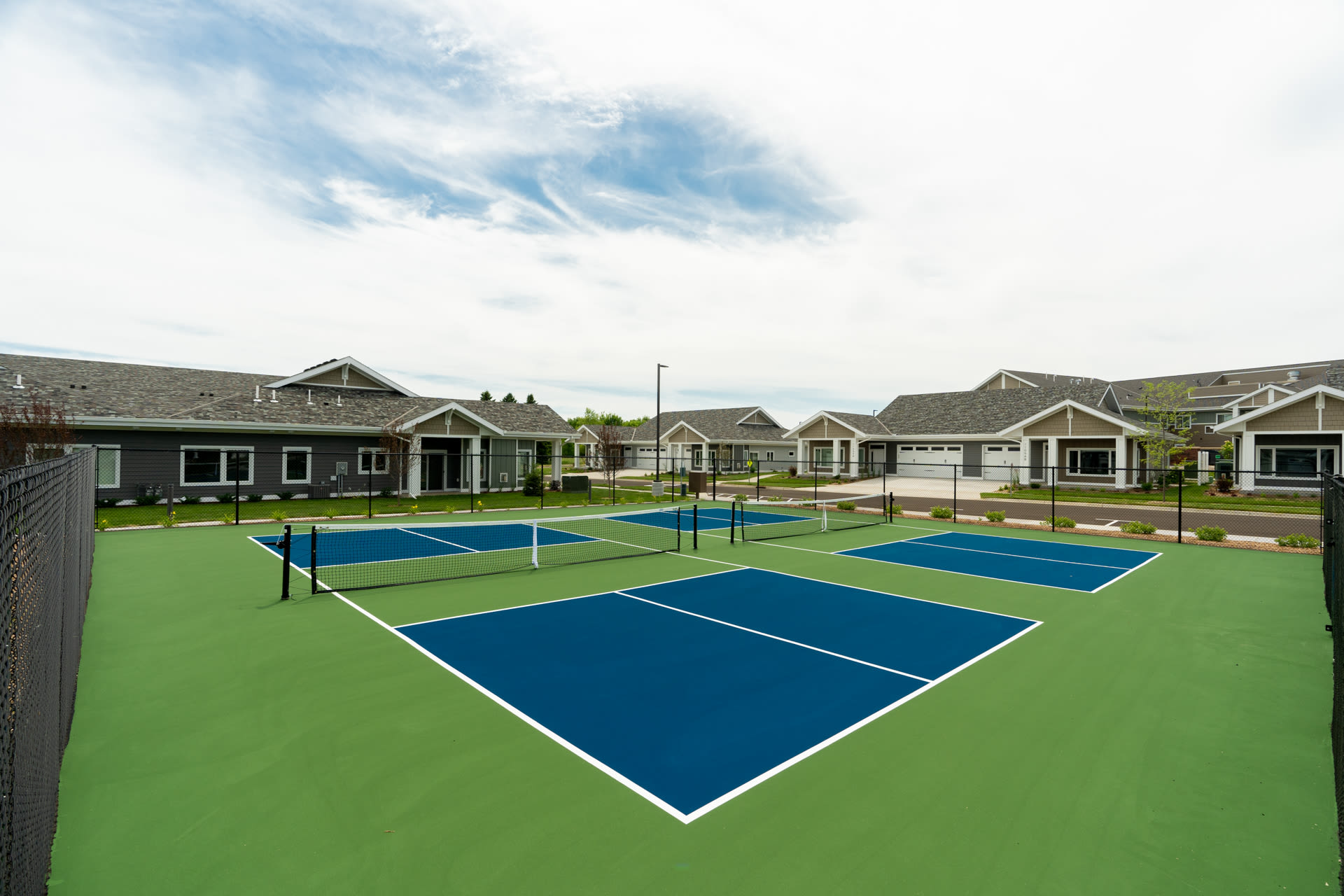 tennis courts at The Fields at Arbor Glen in Lake Elmo, Minnesota