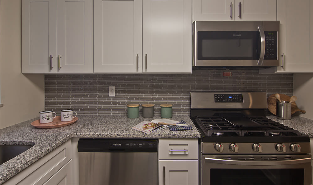 Beautiful kitchen at Elmwood Terrace Apartments & Townhomes in Rochester, New York