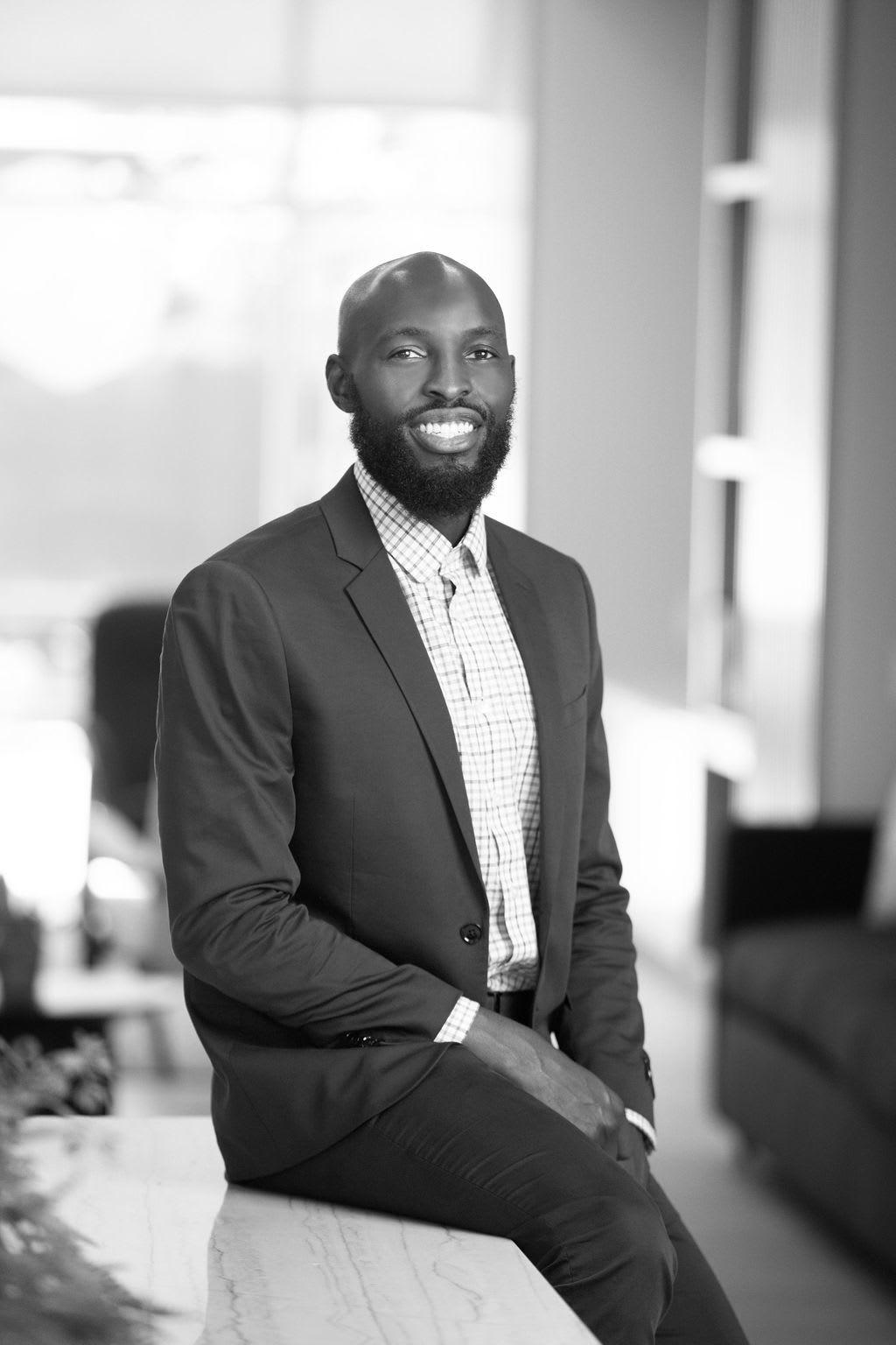Team member Charles Nwankpa at CREA Management in Austin, Texas