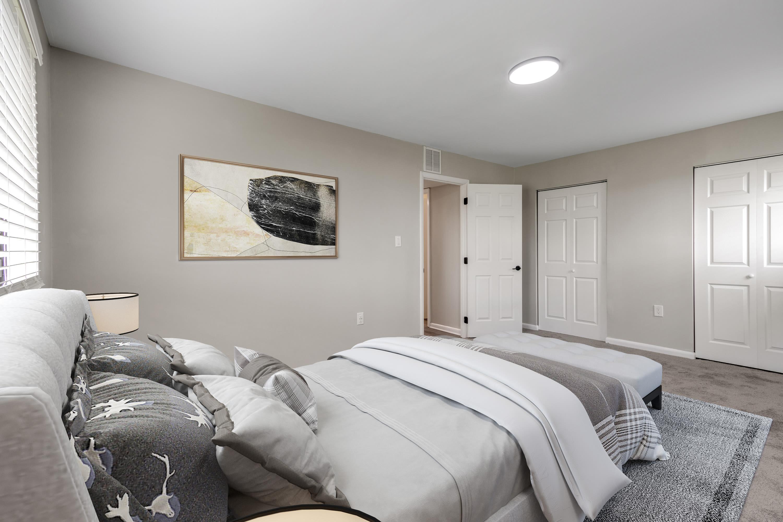 Furnished bedroom at Regency Pointe in Forestville, Maryland