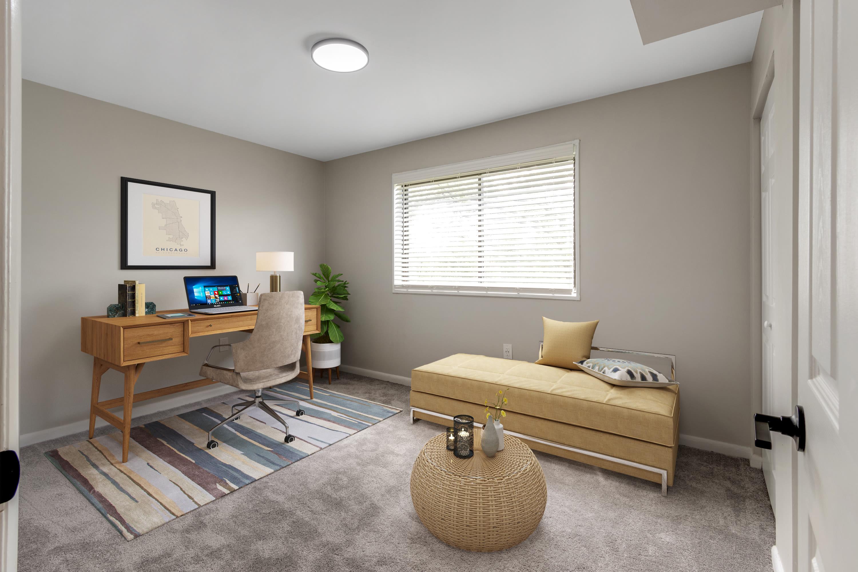 A living room at Regency Pointe in Forestville, Maryland