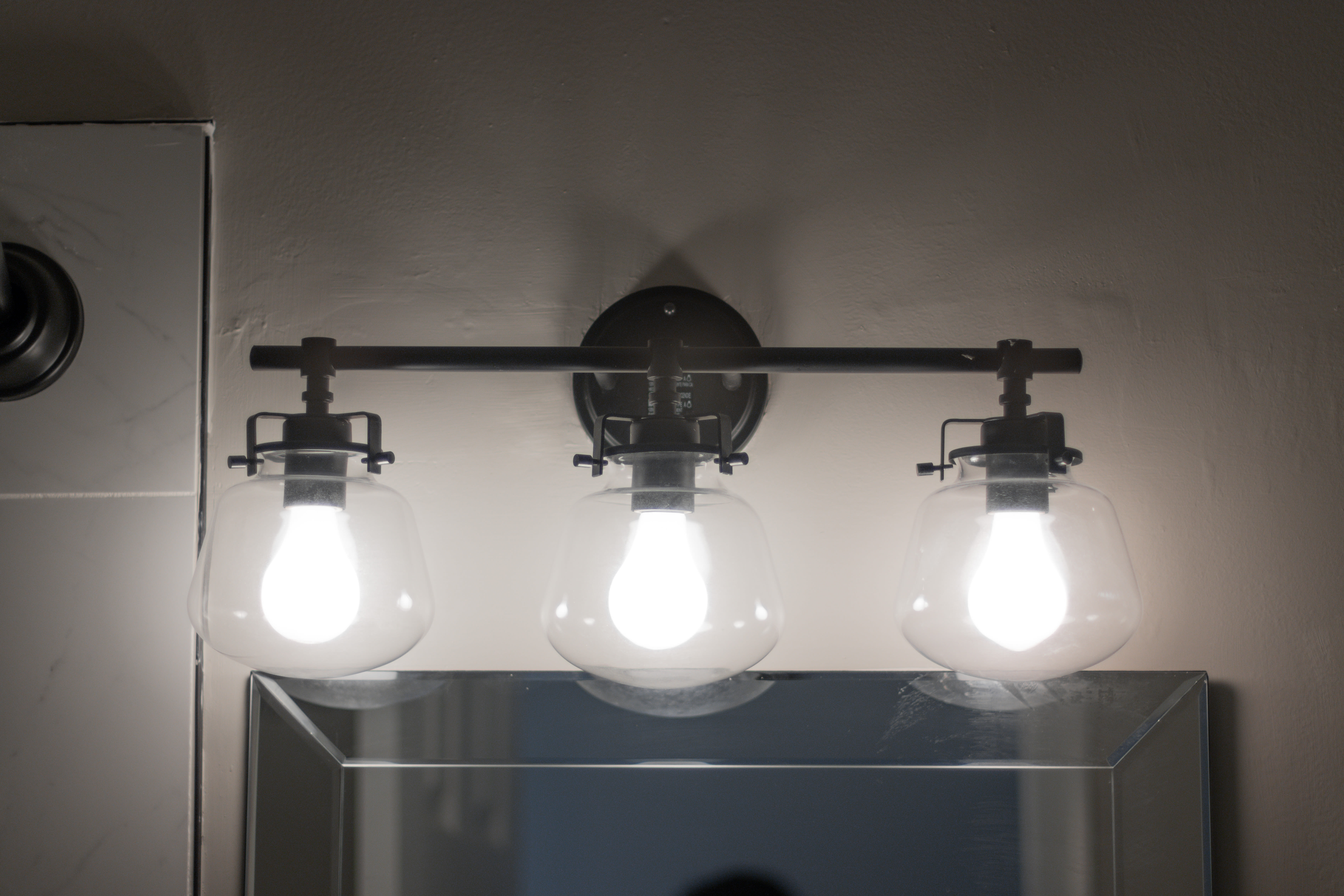 Bathroom lighting at Regency Pointe in Forestville, Maryland