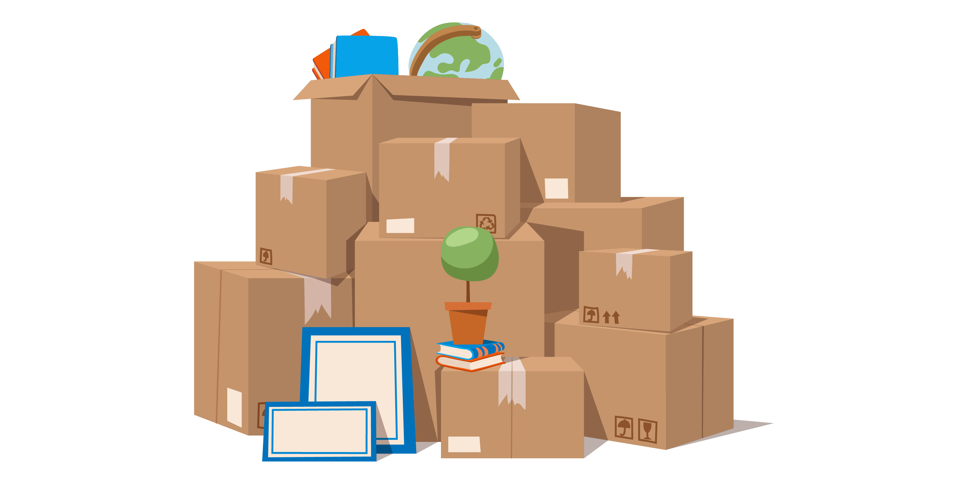 Stack of boxes illustration