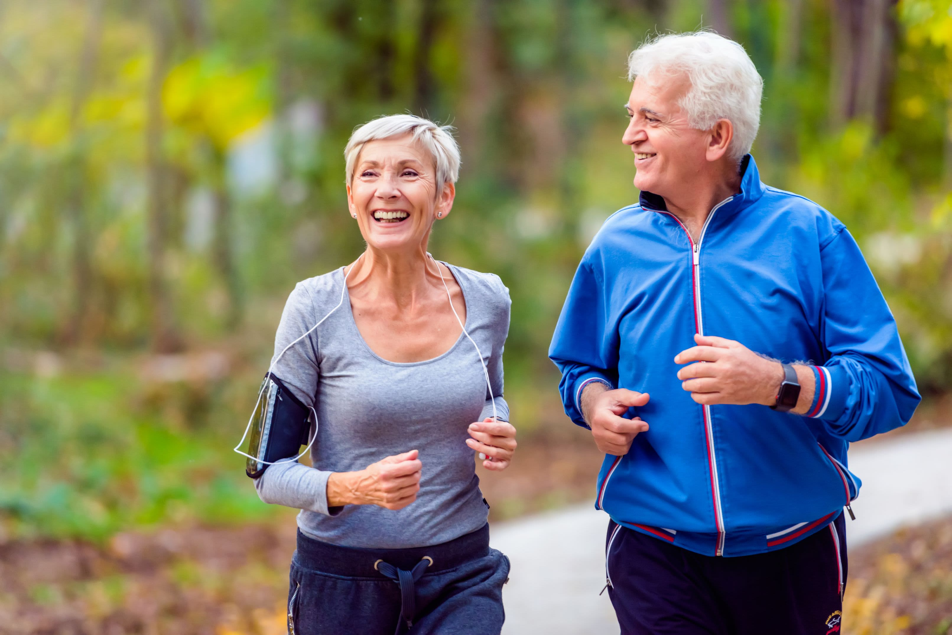 Residents out for a jog near Waterford Harbour in Groveport, Ohio