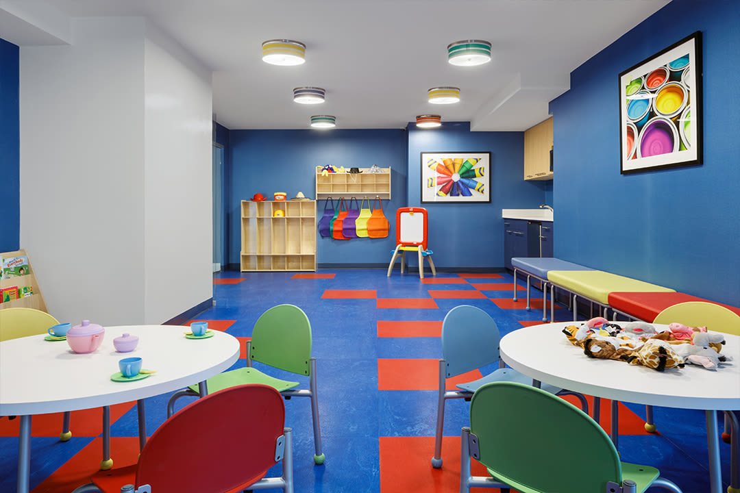 Kid area where residents can bring their children to play at The Ventura in New York, New York