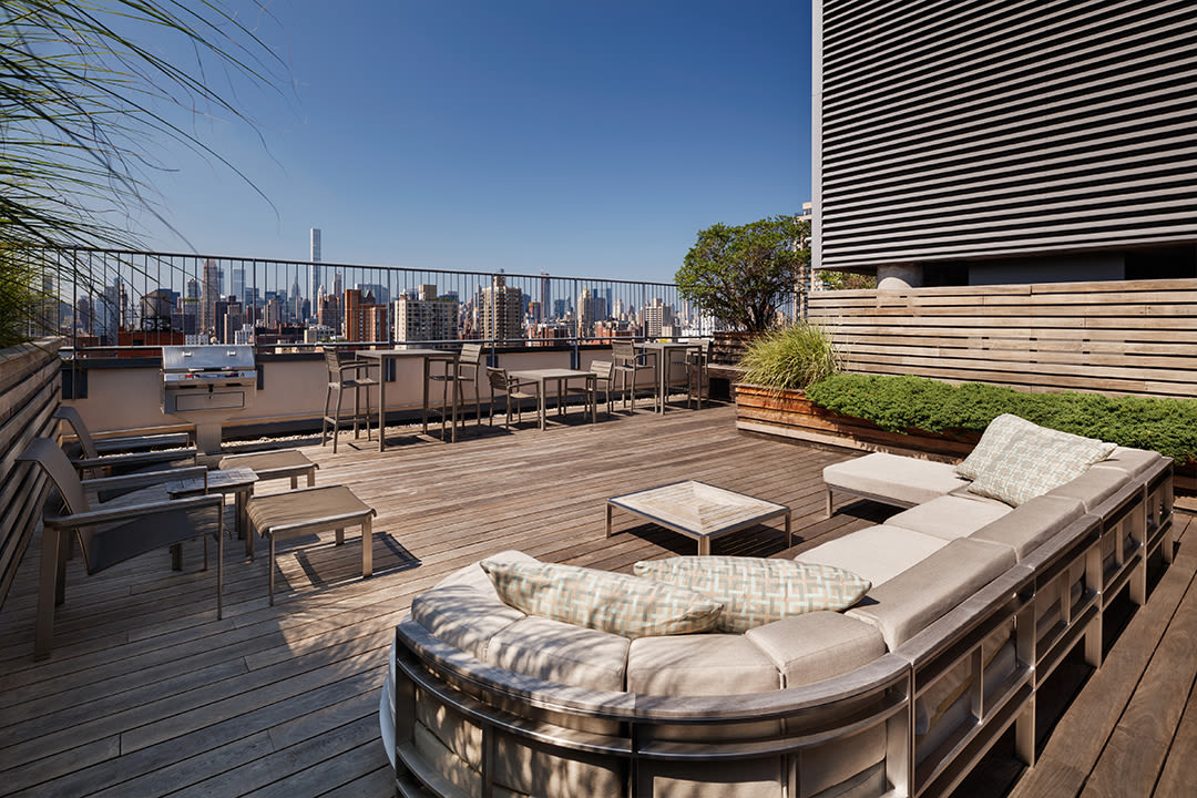 Gorgeous views from the rooftop lounge at The Ventura in New York, New York