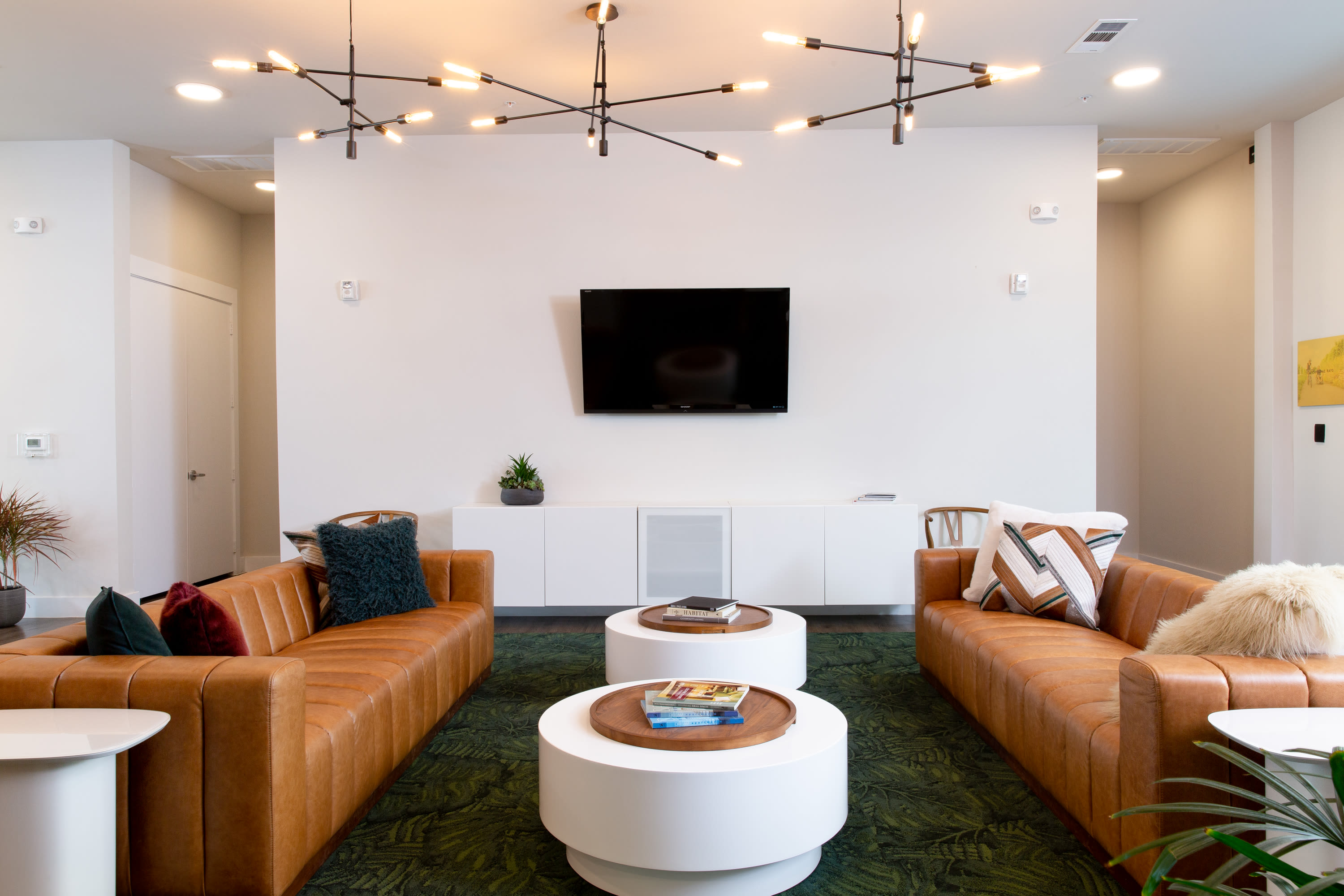 Comfortable lounge at Flora in Austin, Texas