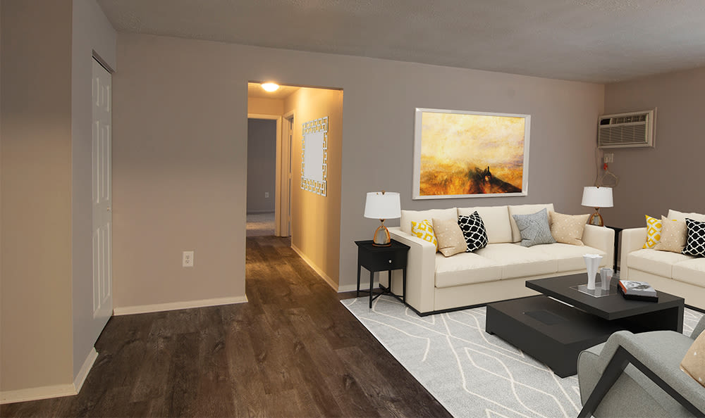 Living room at Park Place of South Park in South Park, Pennsylvania